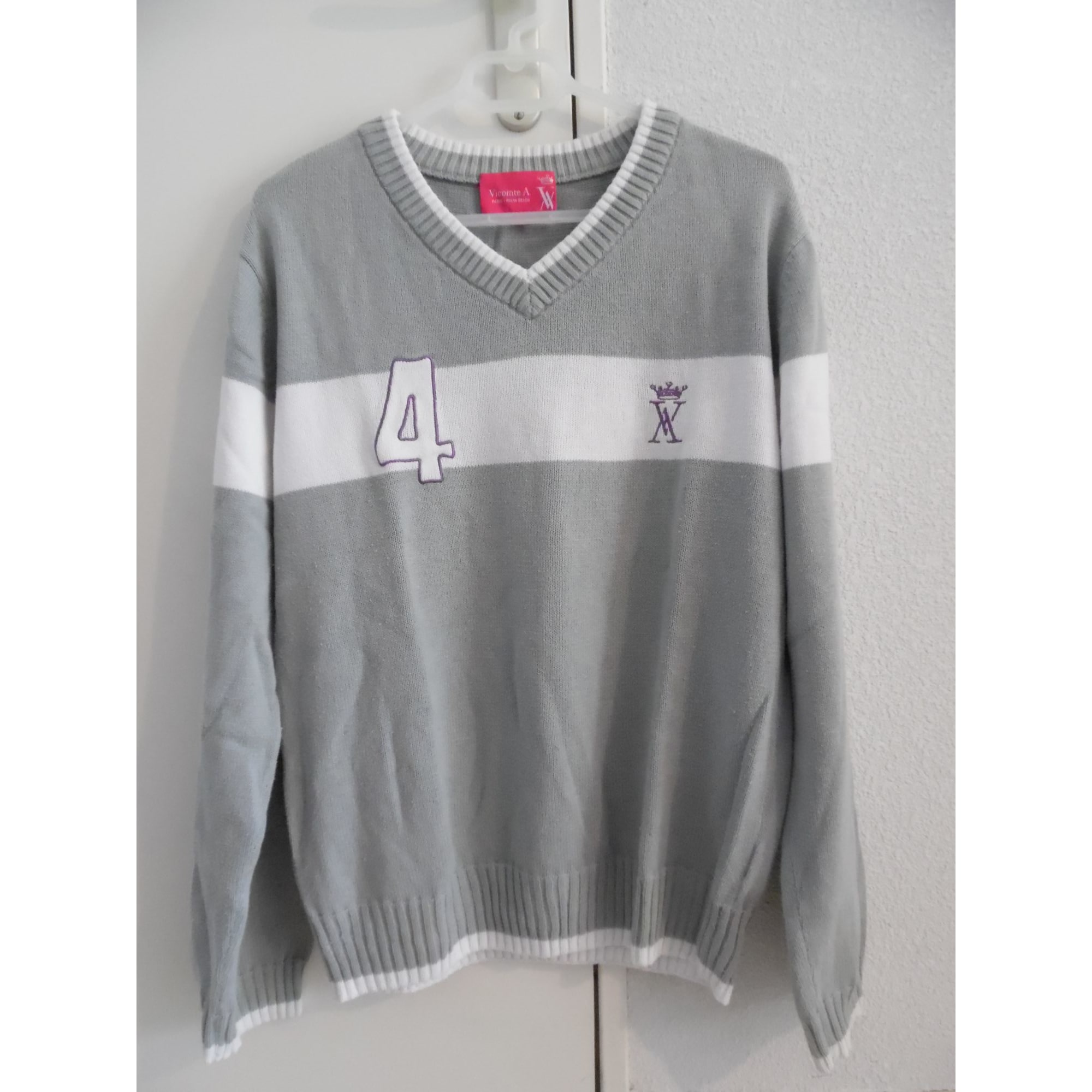 Pull VICOMTE A. Gris, anthracite