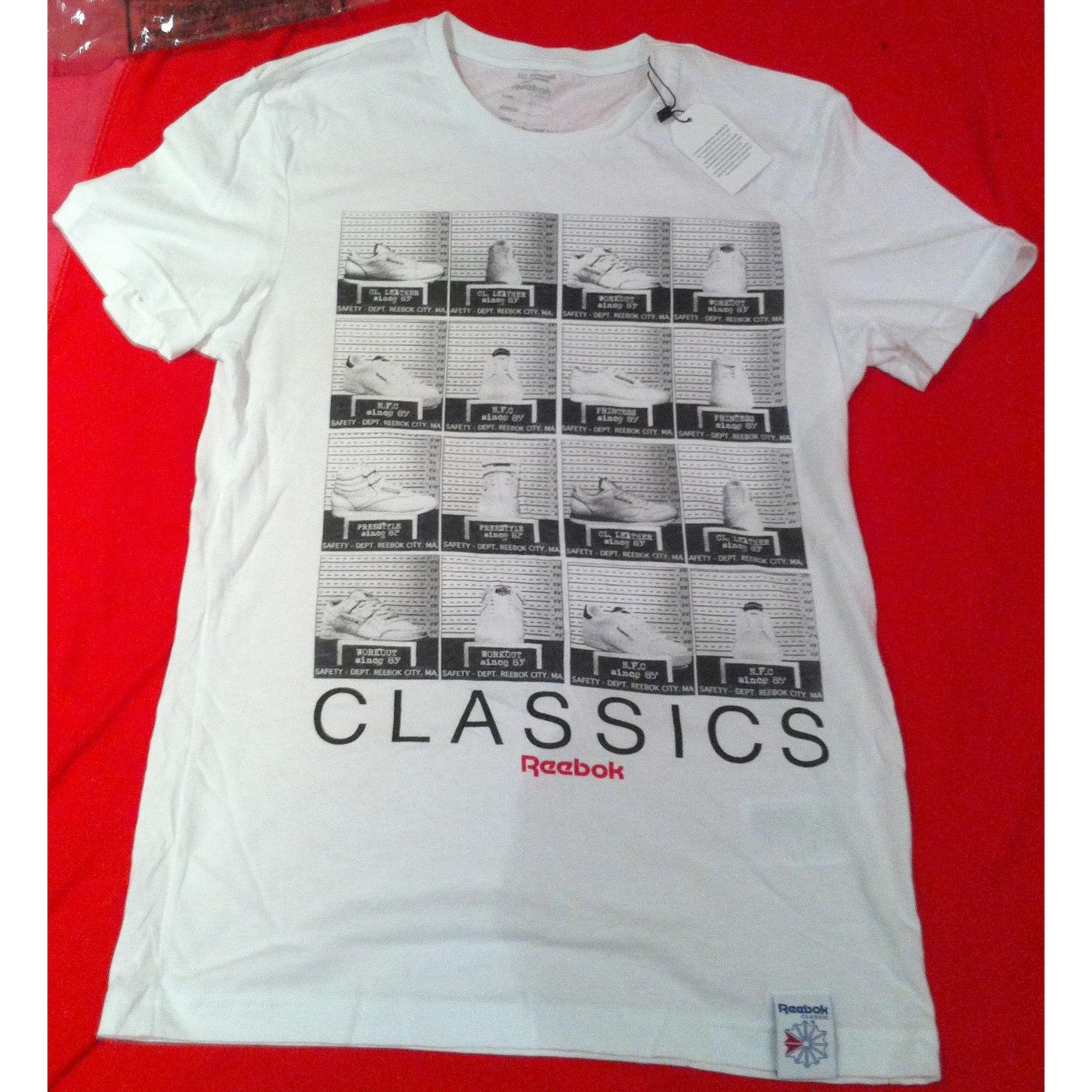 Tee-shirt REEBOK Blanc, blanc cassé, écru