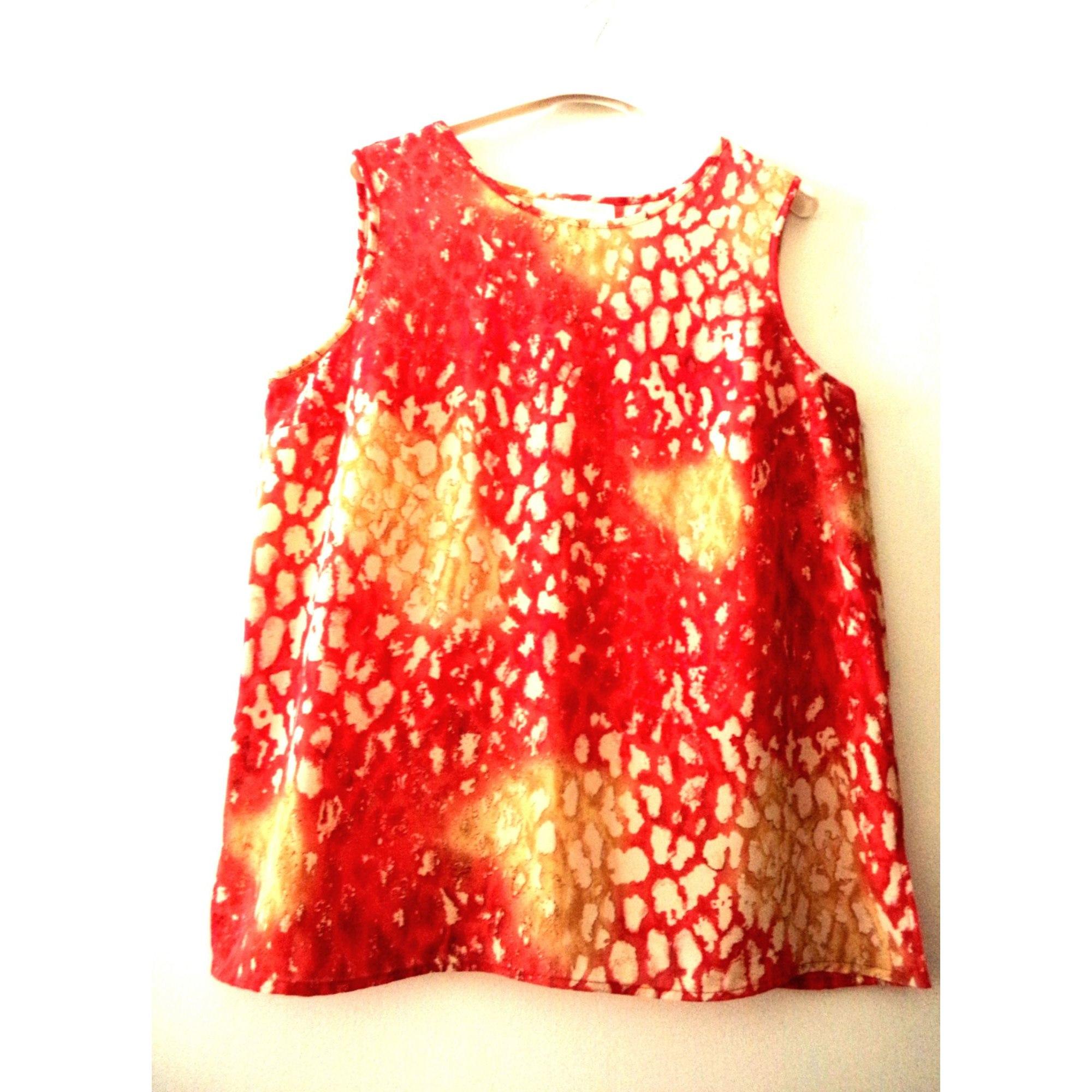 Top, tee-shirt UN JOUR AILLEURS Rouge, bordeaux