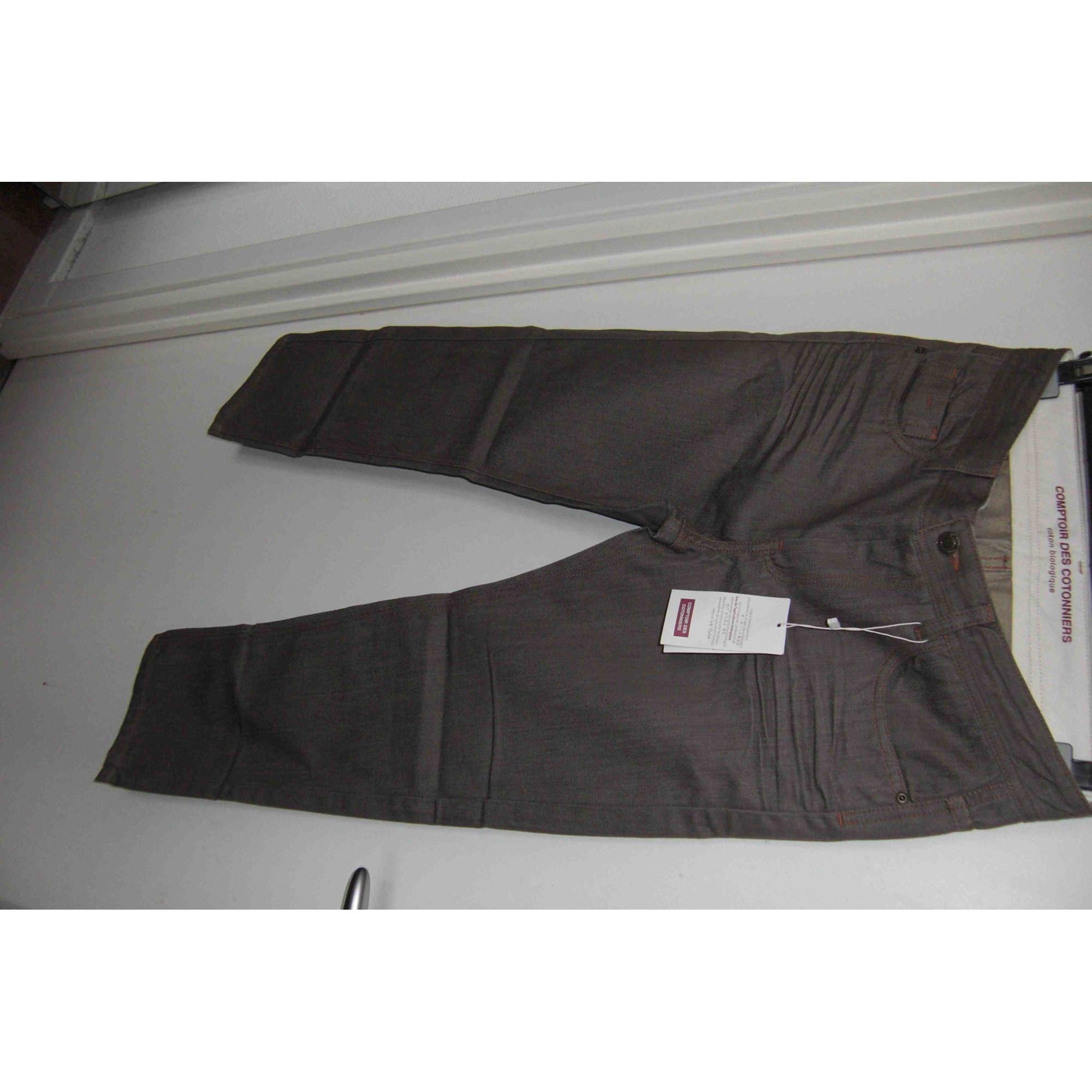 Jeans large, boyfriend COMPTOIR DES COTONNIERS Kaki