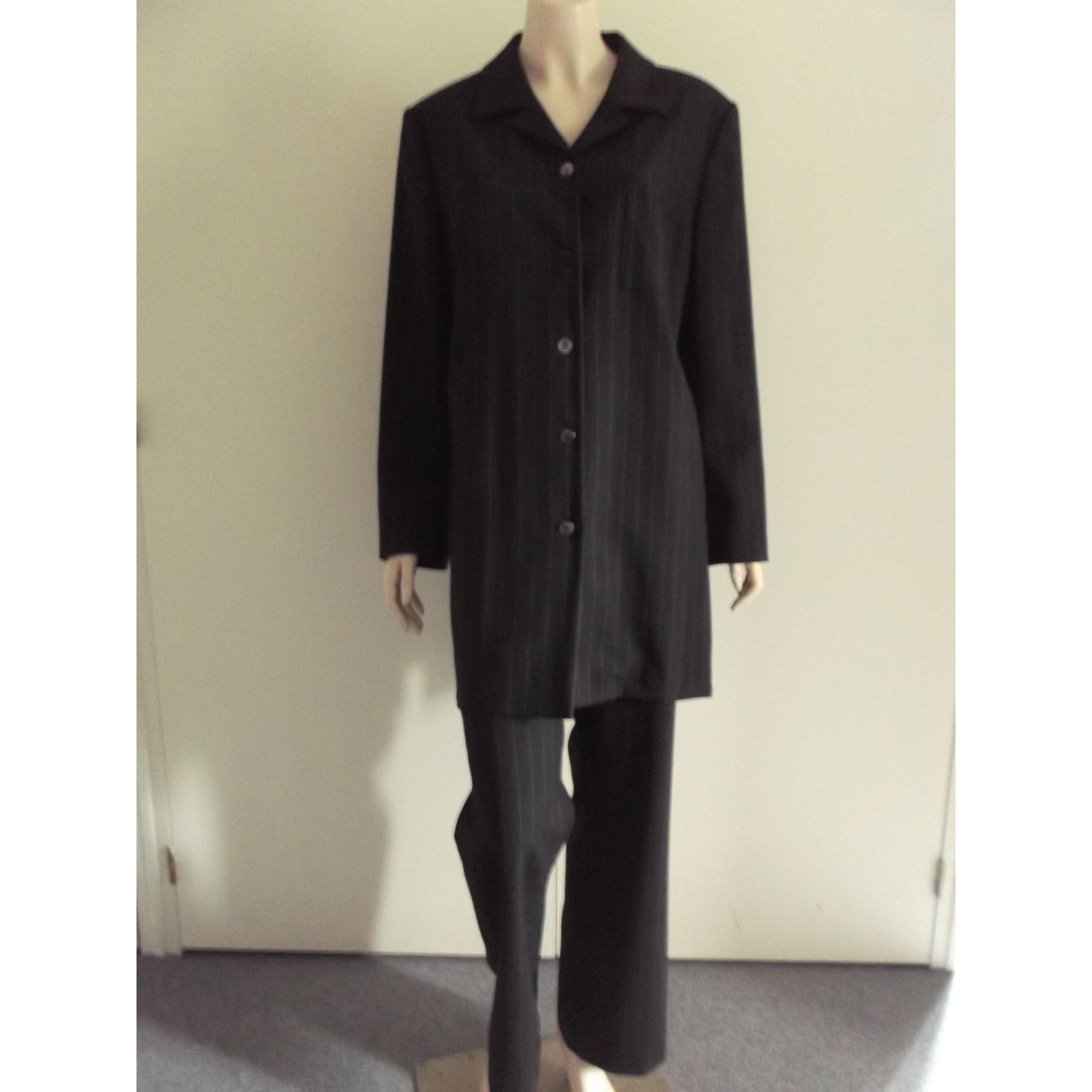 Tailleur pantalon CAROLINE ROHMER Gris, anthracite