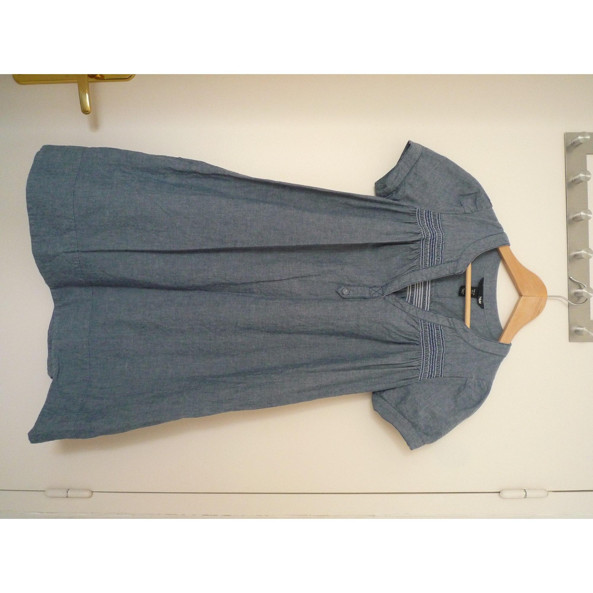 Robe En Jeans H M 34 Xs T0 Bleu 630430
