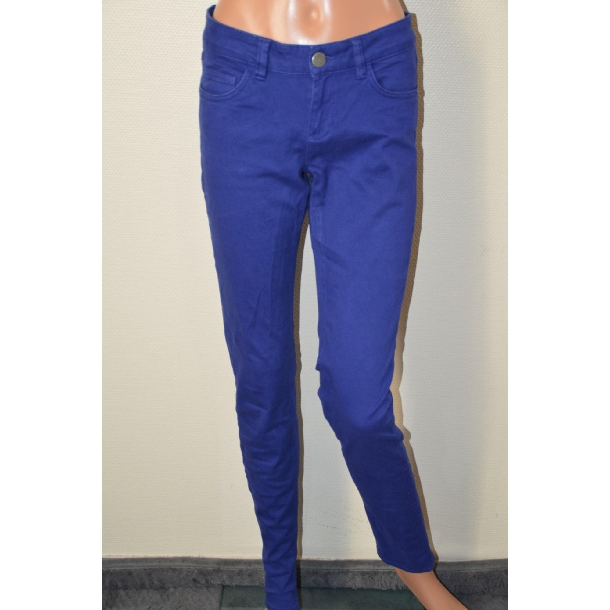 Jeans slim DDP Bleu, bleu marine, bleu turquoise