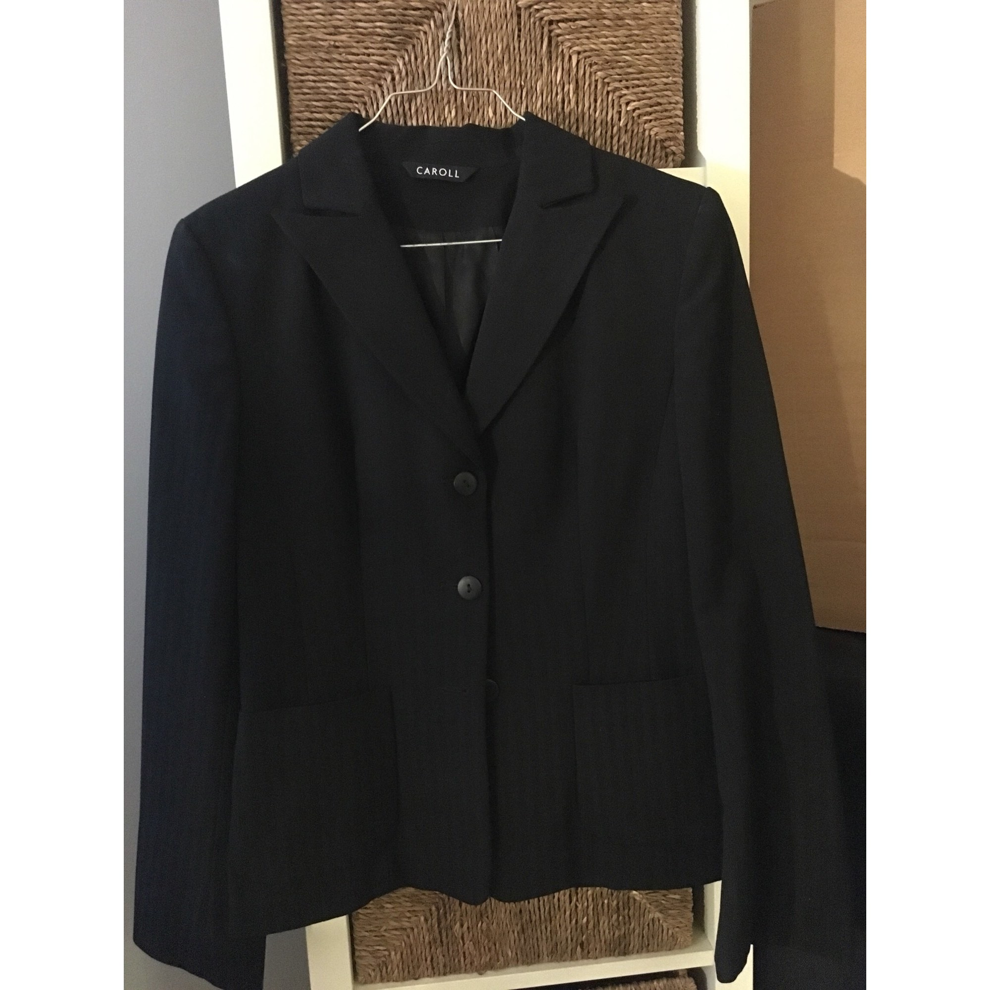 Tailleur jupe CAROLL Noir
