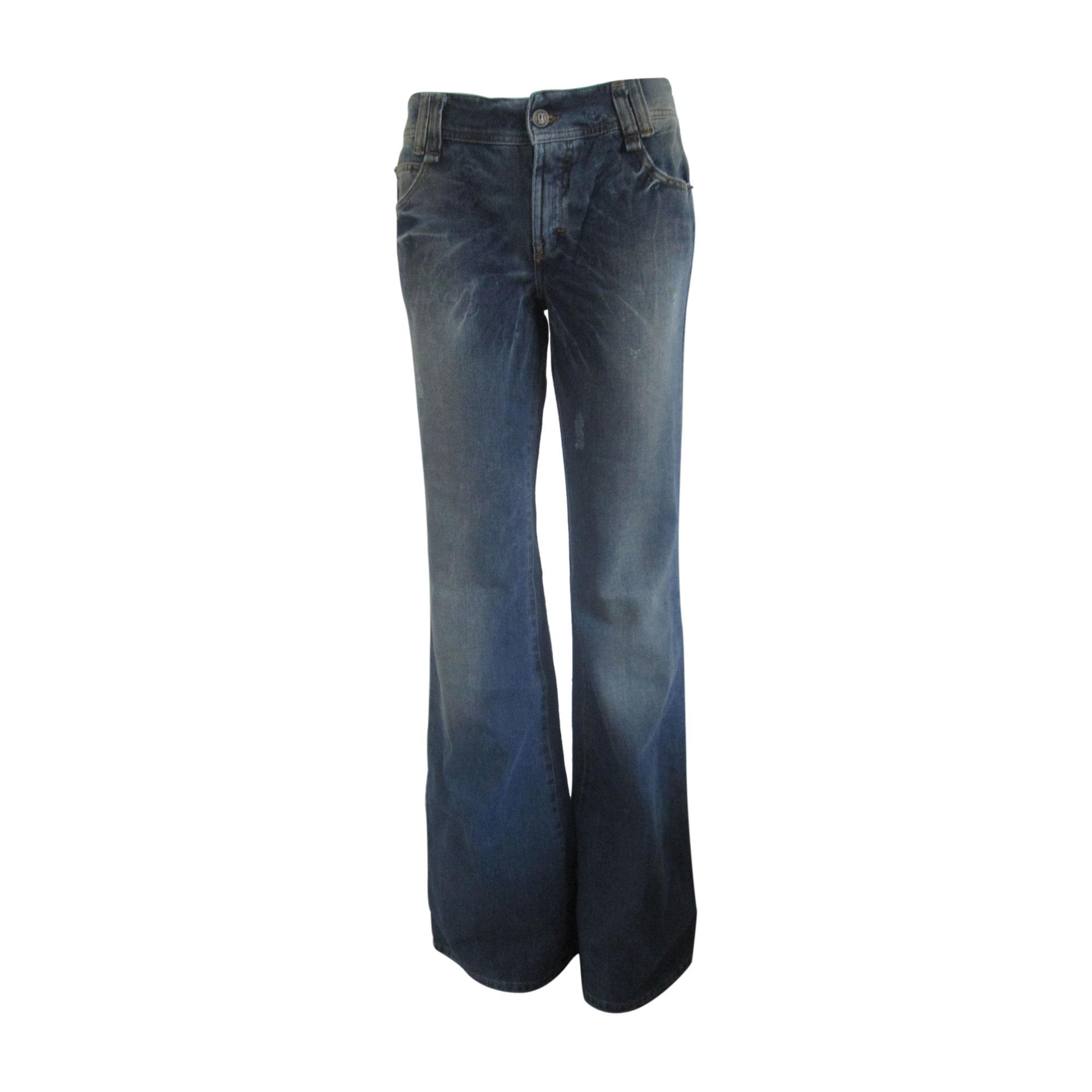 Jeans large, boyfriend JOHN GALLIANO Bleu, bleu marine, bleu turquoise