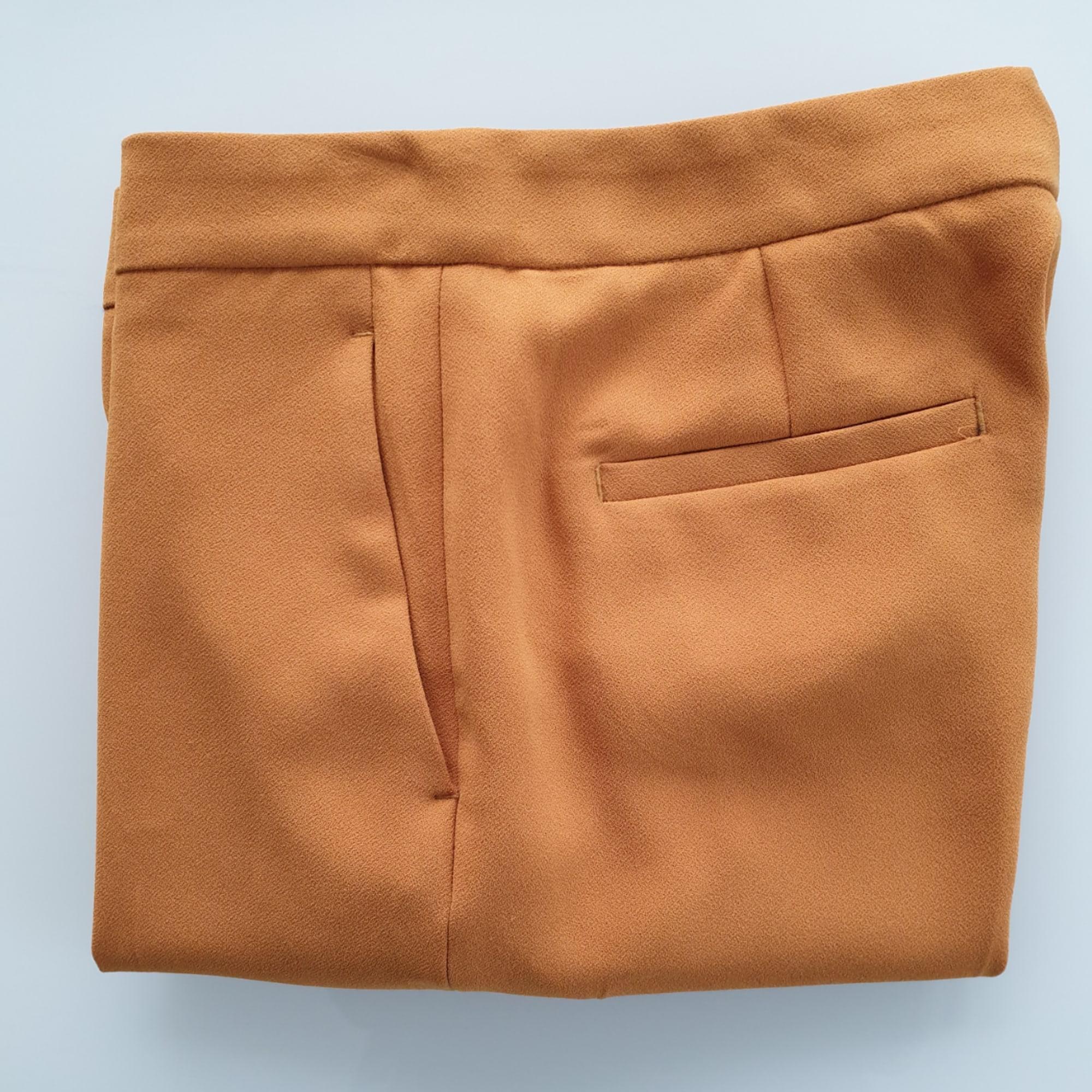Pantalon droit ZARA Jaune