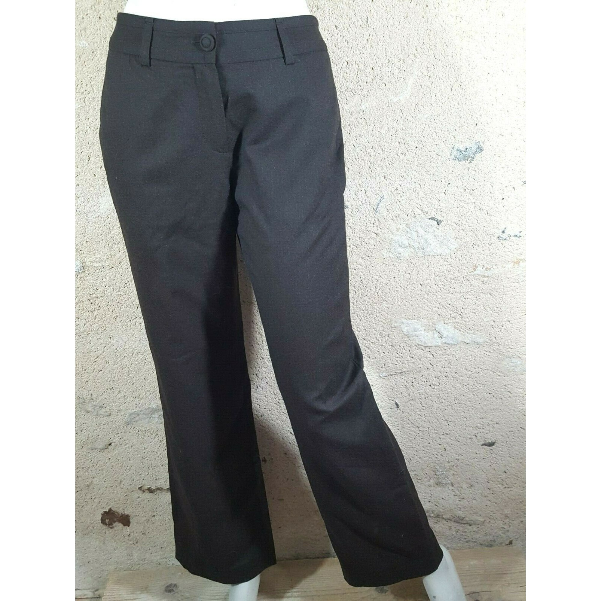 Pantalon droit ALAIN MANOUKIAN Marron