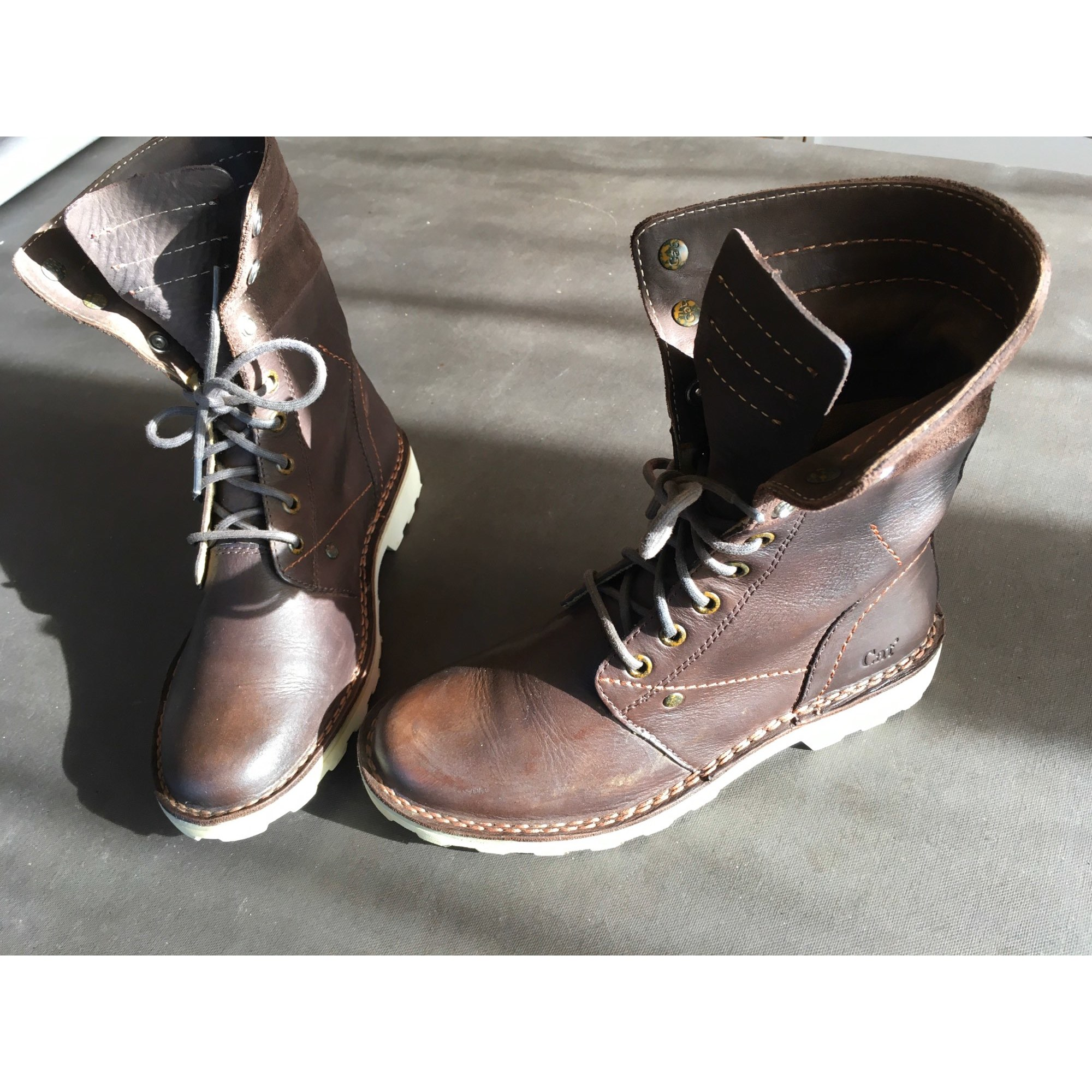 Bottines & low boots plates CATERPILLAR Marron