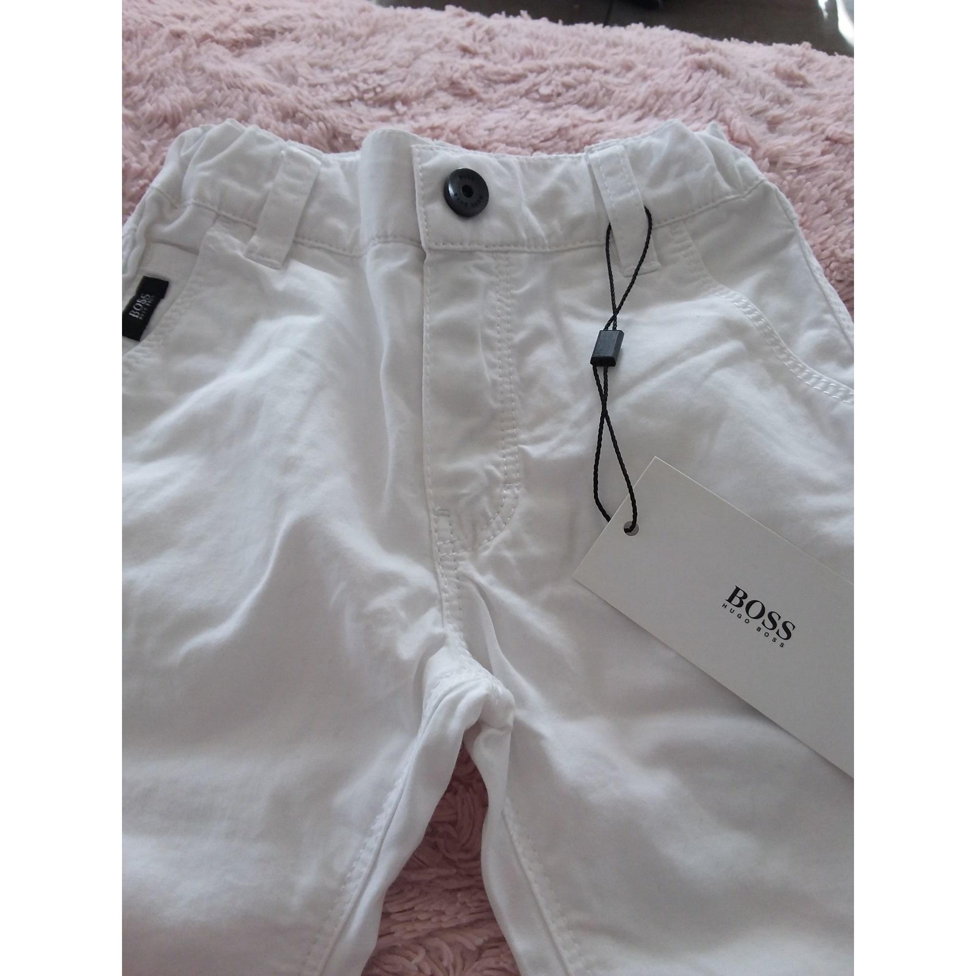 Pantalon HUGO BOSS Blanc, blanc cassé, écru