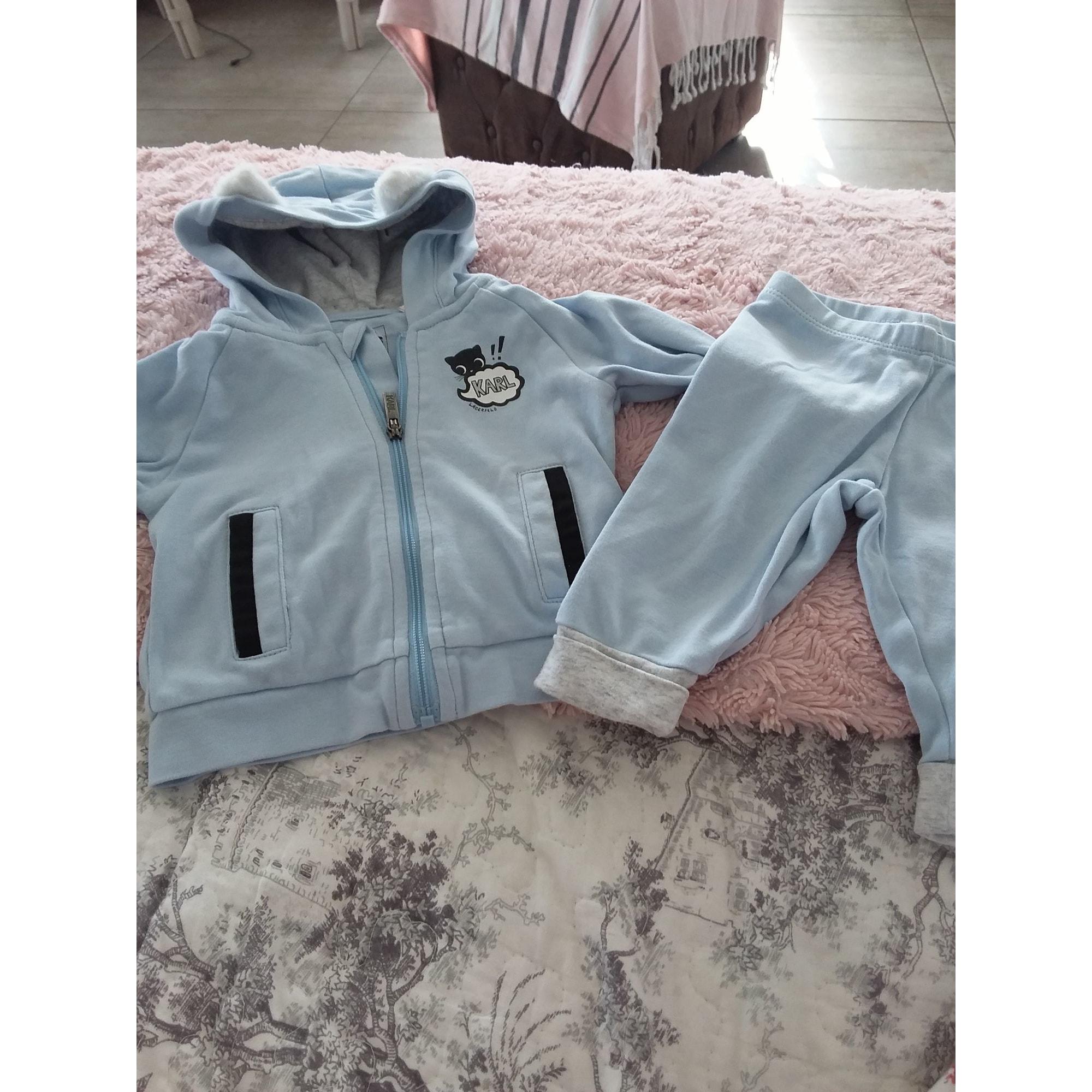 Ensemble & Combinaison pantalon KARL LAGERFELD Bleu, bleu marine, bleu turquoise