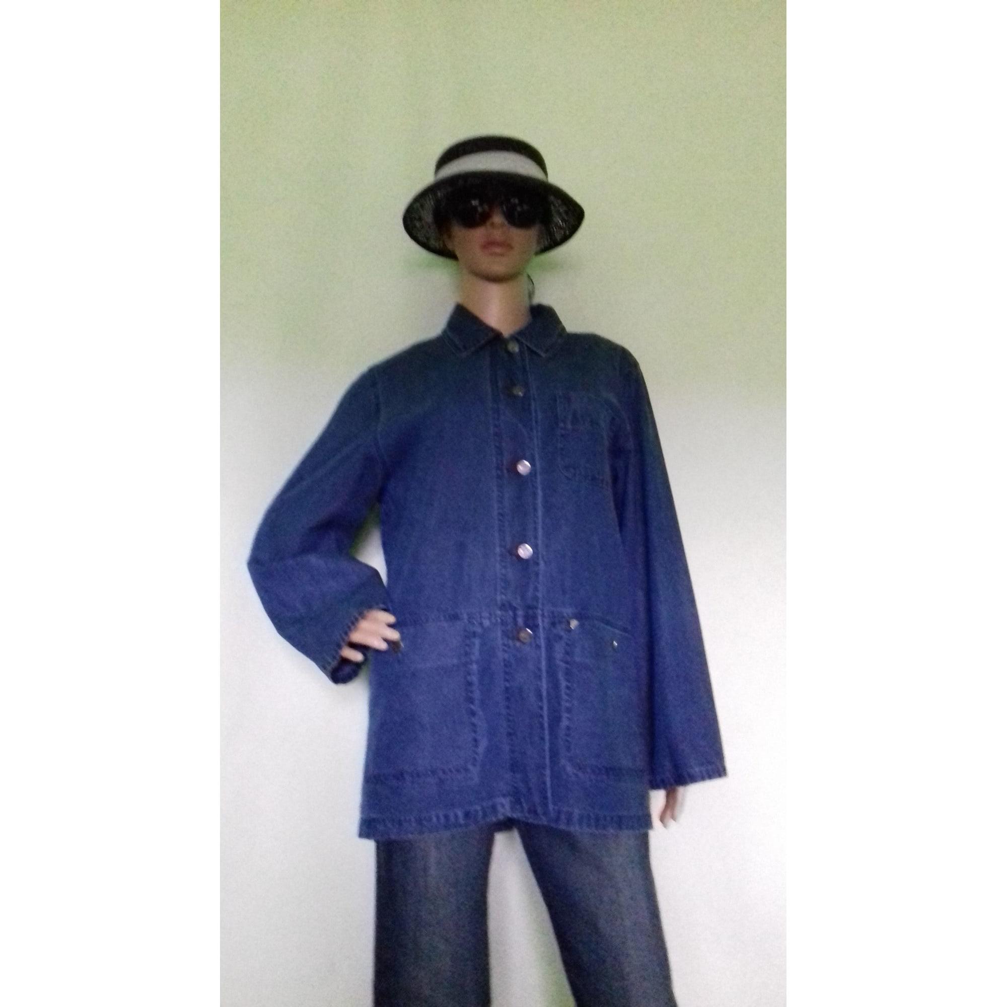 Veste en jean NEW MAN Bleu, bleu marine, bleu turquoise