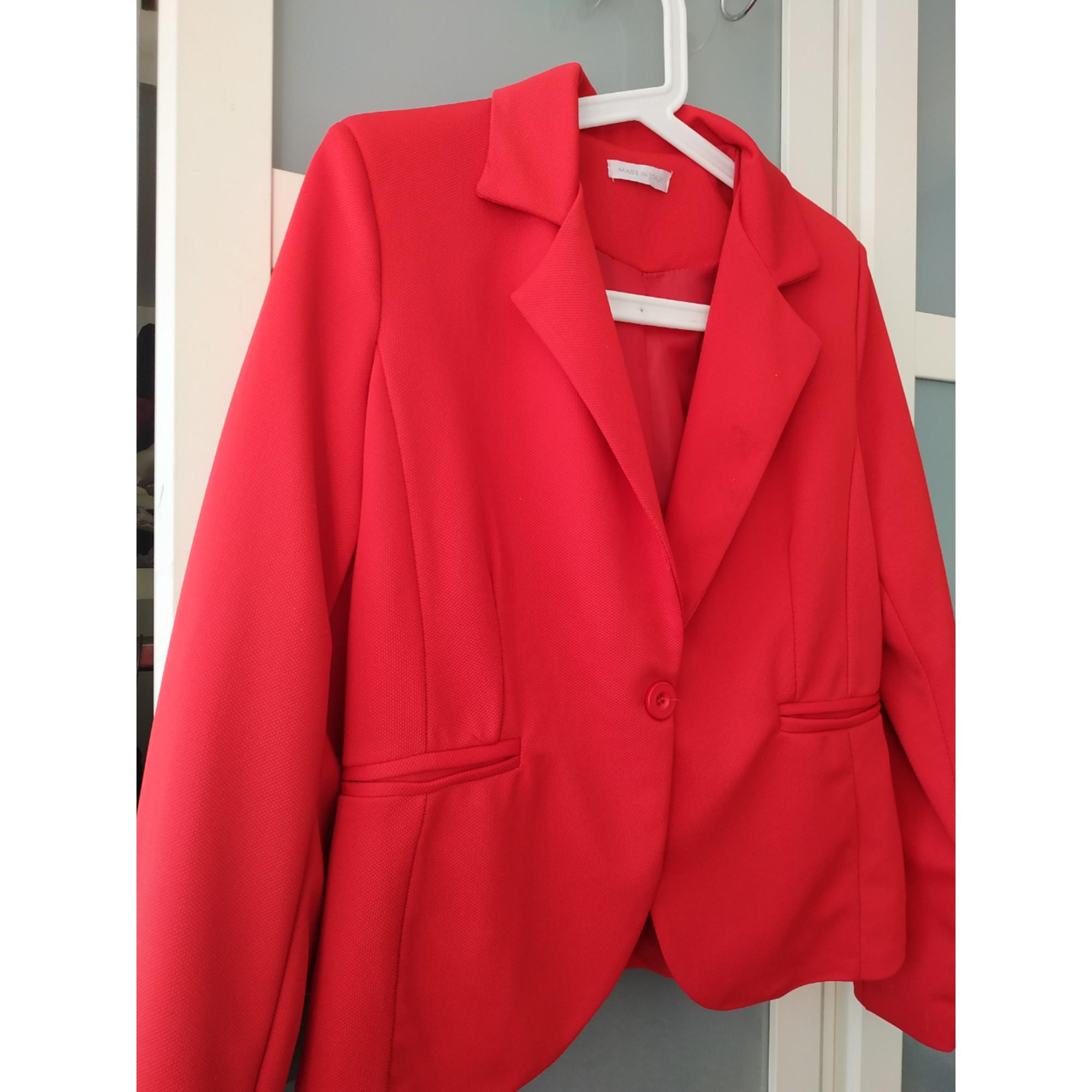 Blazer, veste tailleur MARQUE INCONNUE Rouge, bordeaux