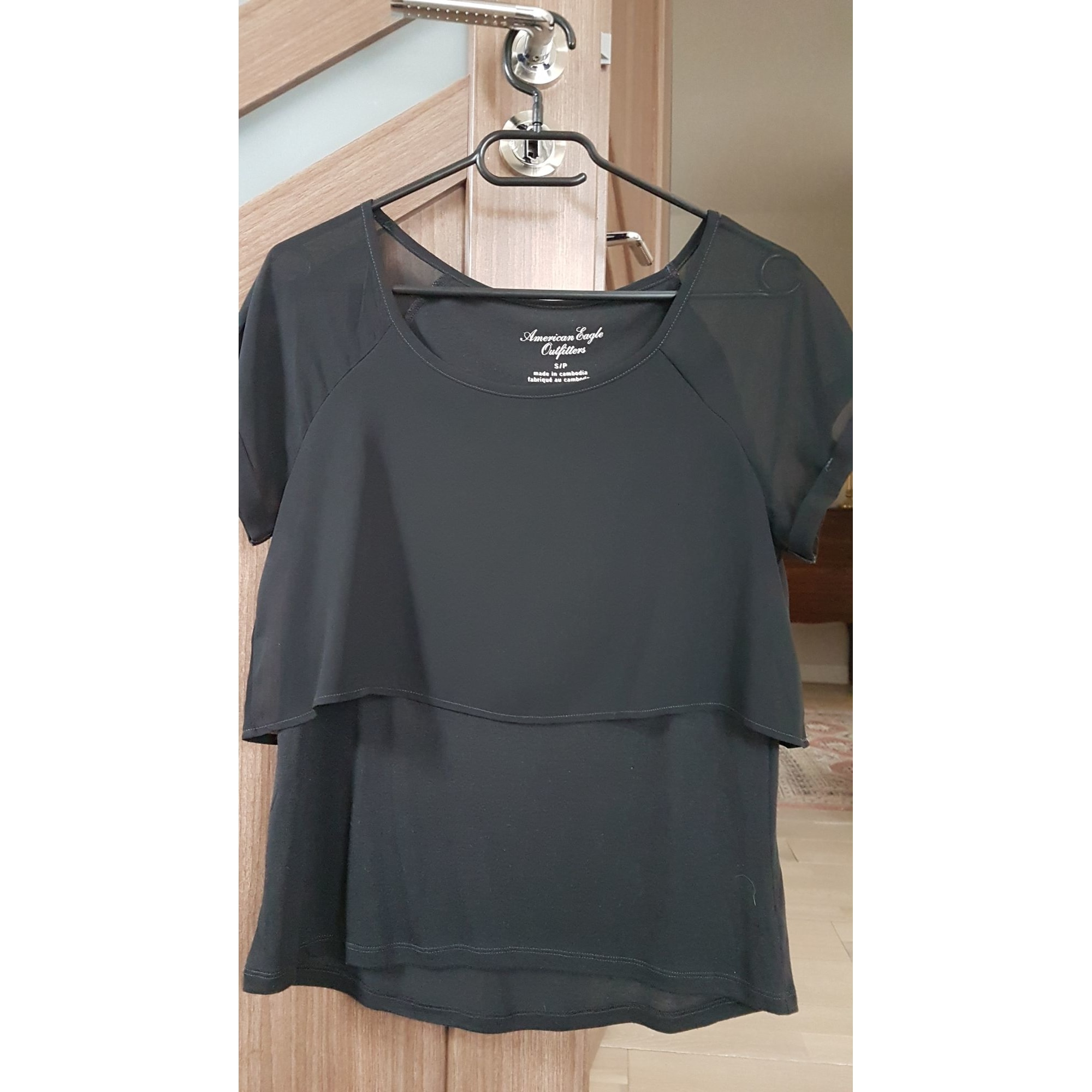 Top, tee-shirt AMERICAN EAGLE OUTFITTERS Noir
