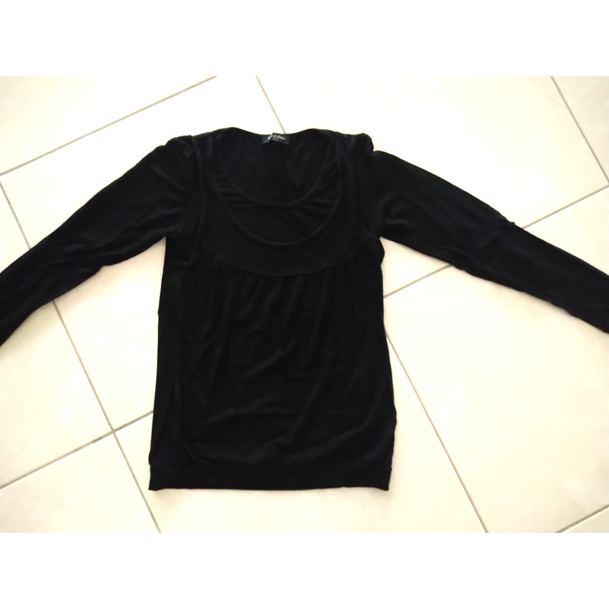 Top, tee-shirt SANS MARQUE Noir