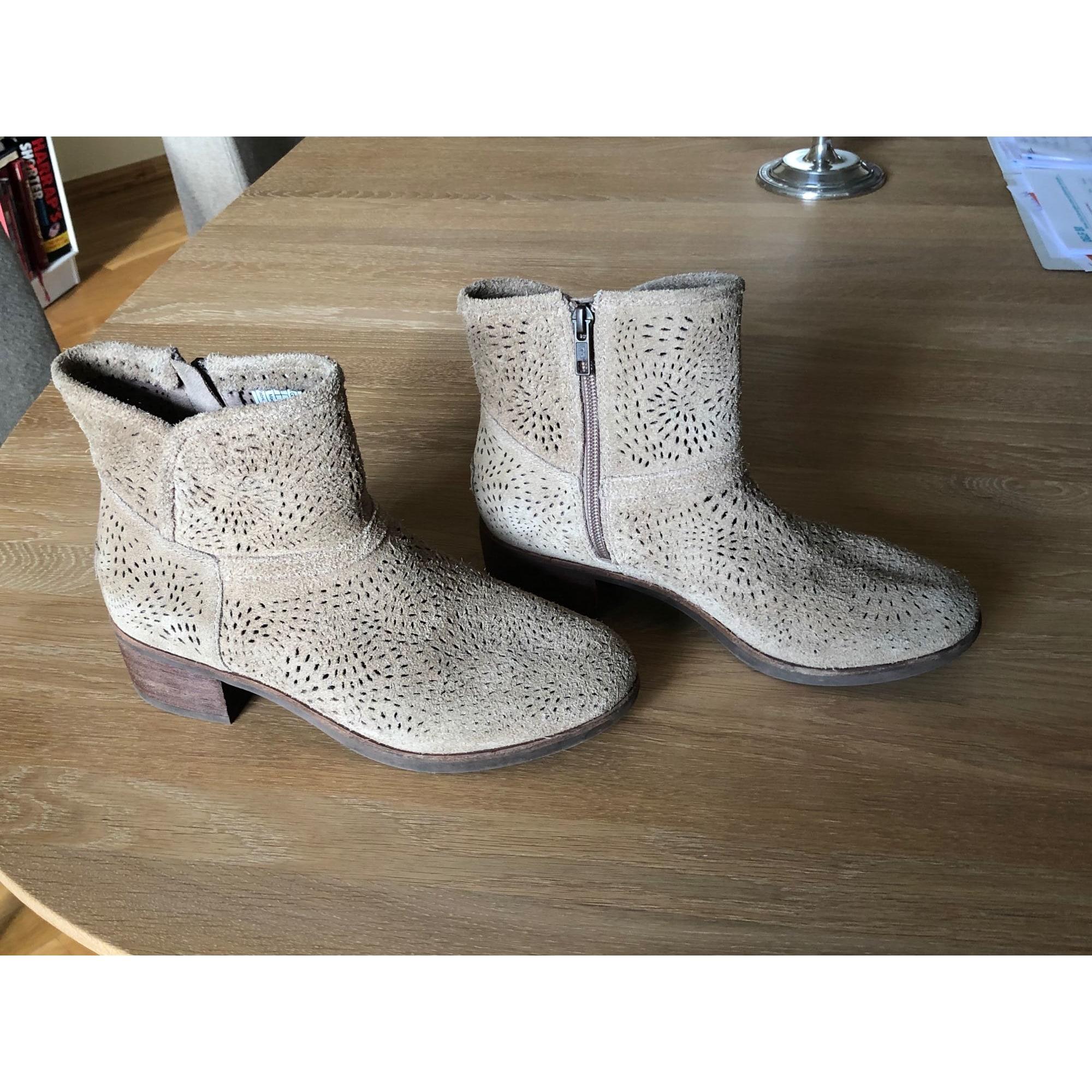 High Heel Ankle Boots UGG Beige, camel