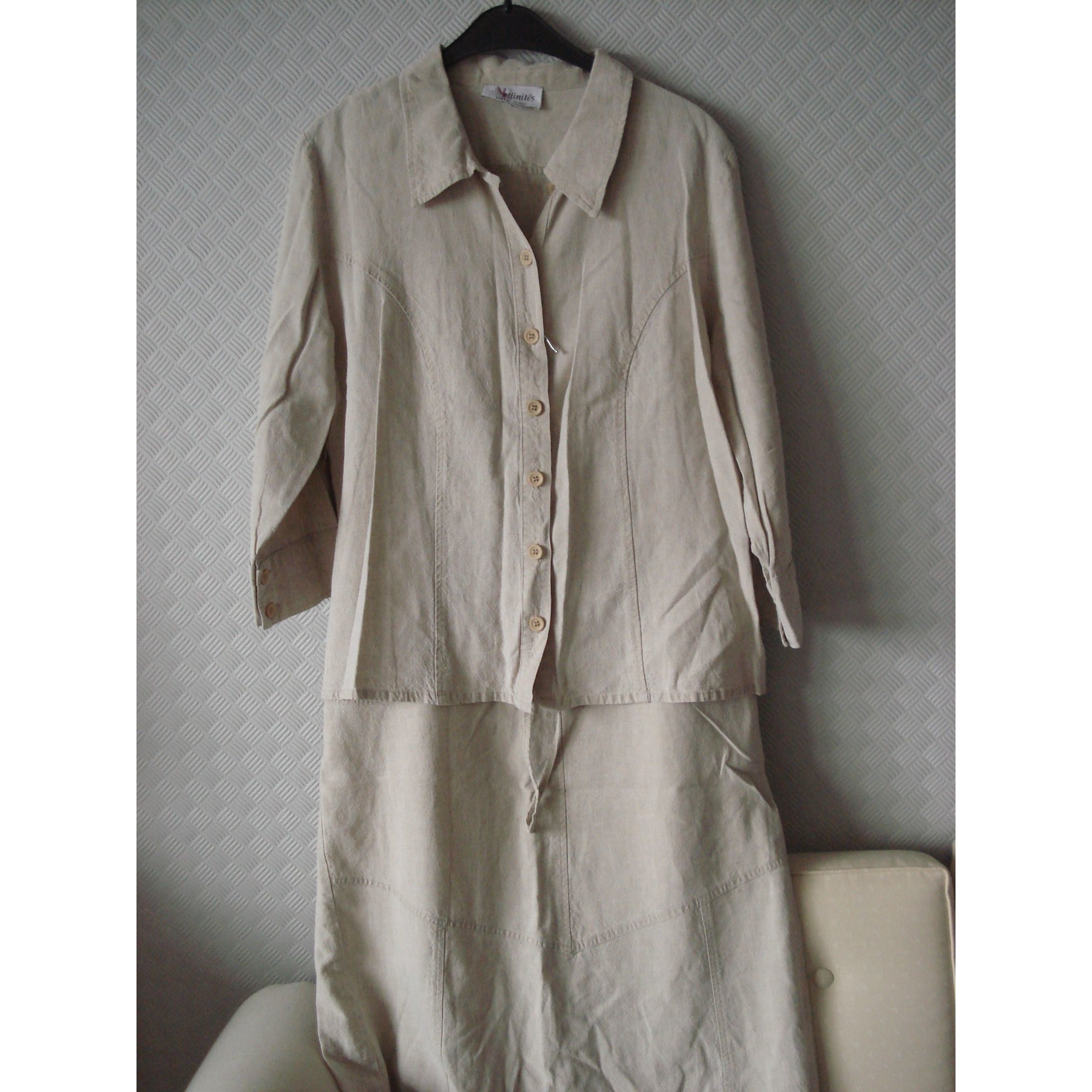 Tailleur jupe ARMAND THIERY Beige, camel