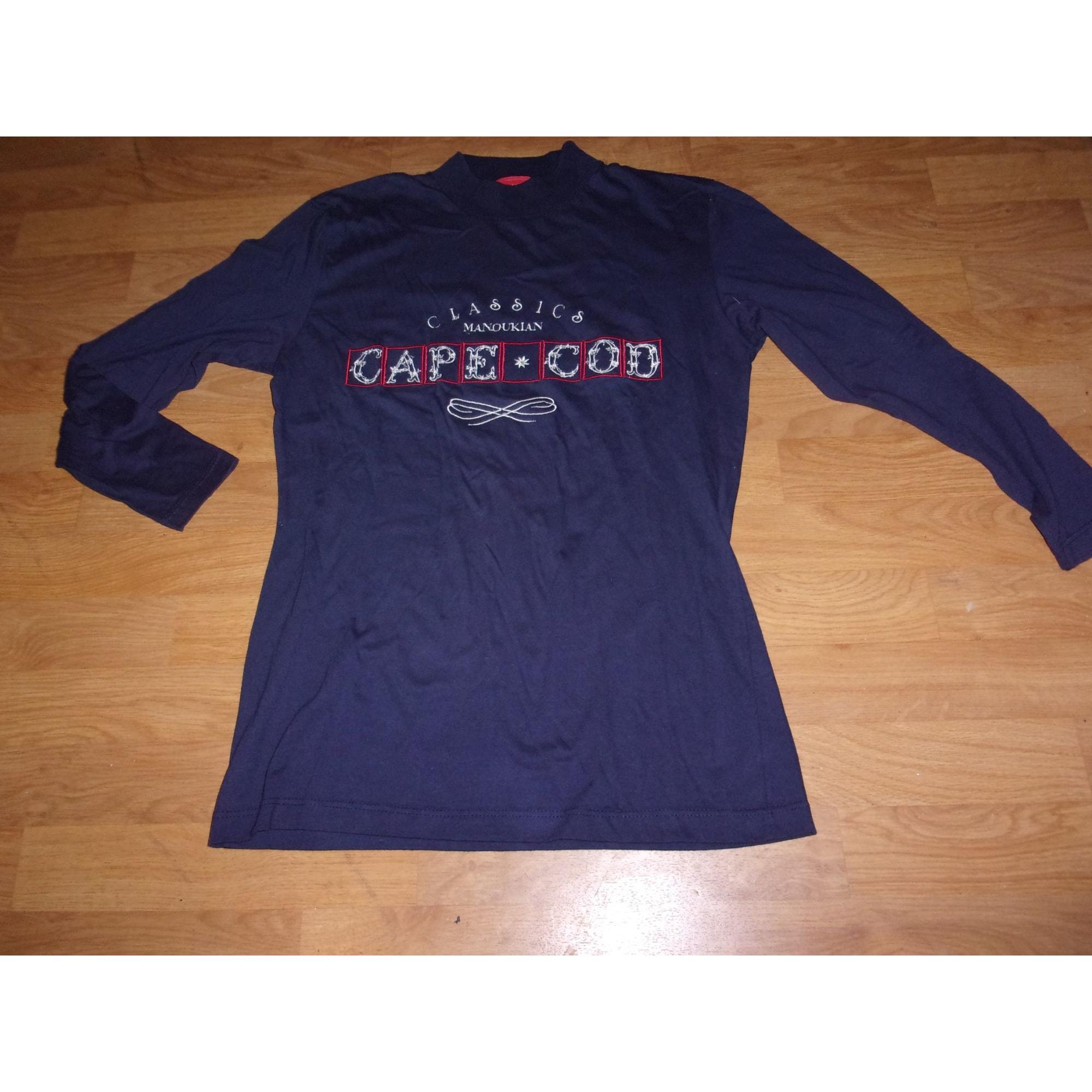 Top, tee-shirt ALAIN MANOUKIAN Bleu, bleu marine, bleu turquoise