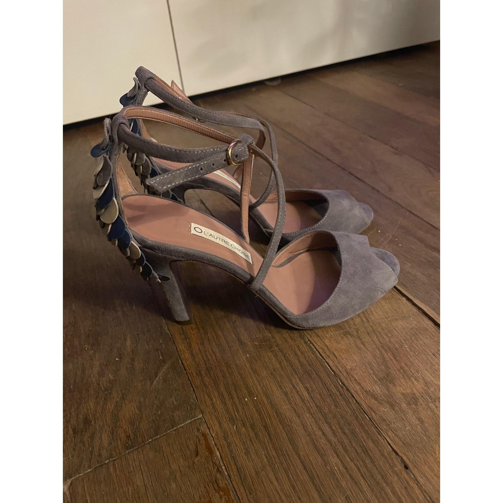 Sandales à talons L'AUTRE CHOSE Gris, anthracite