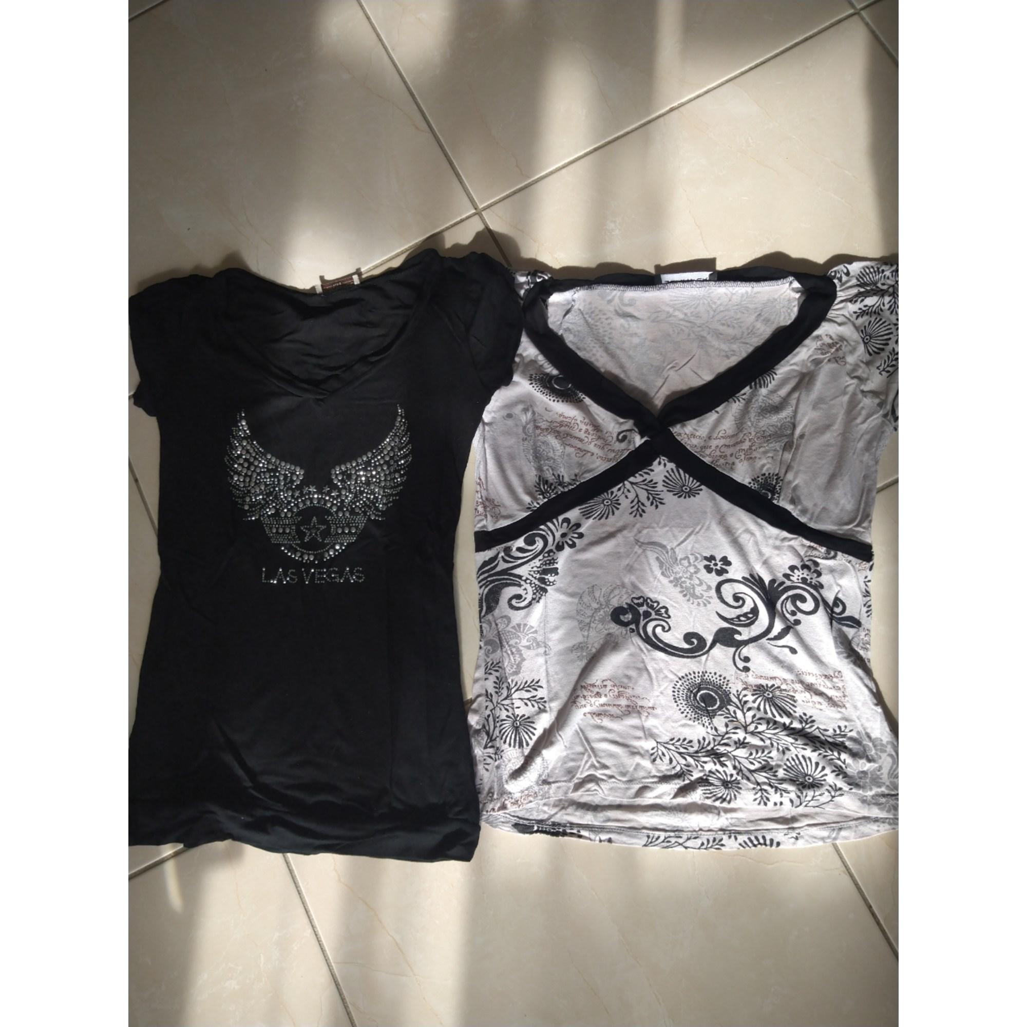 Top, tee-shirt JENNYFER Noir