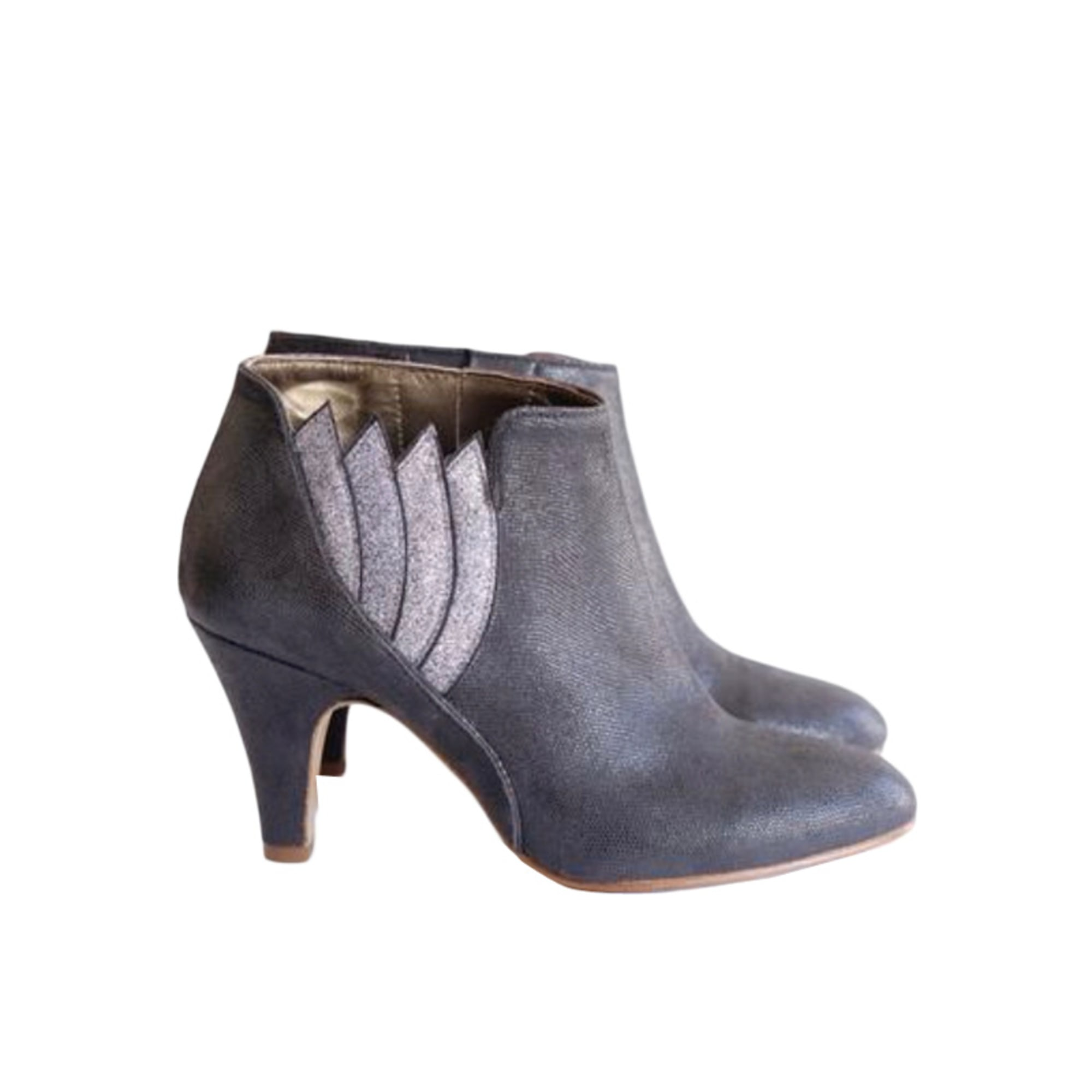 High Heel Ankle Boots PATRICIA BLANCHET Gray, charcoal