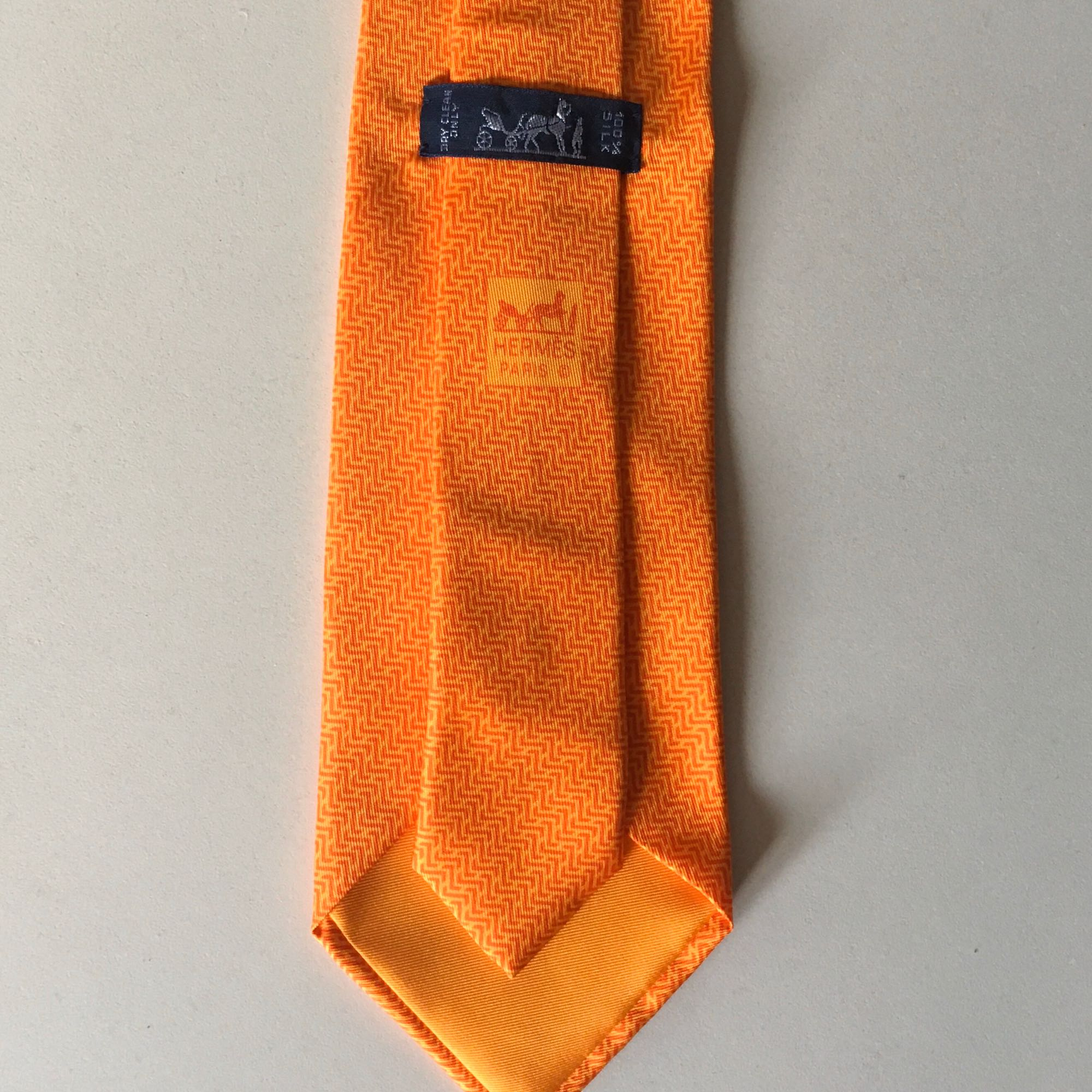 Tie HERMÈS Orange