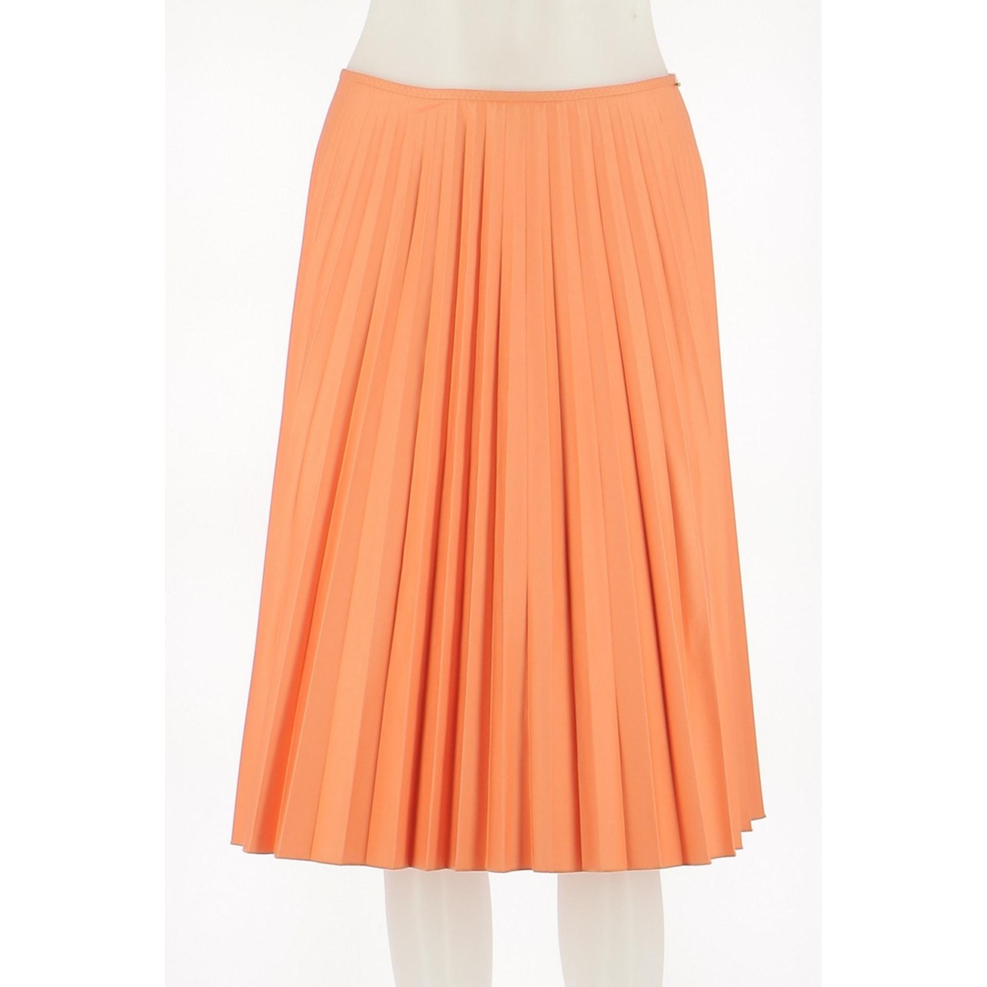 Jupe mi-longue PAULE KA Orange