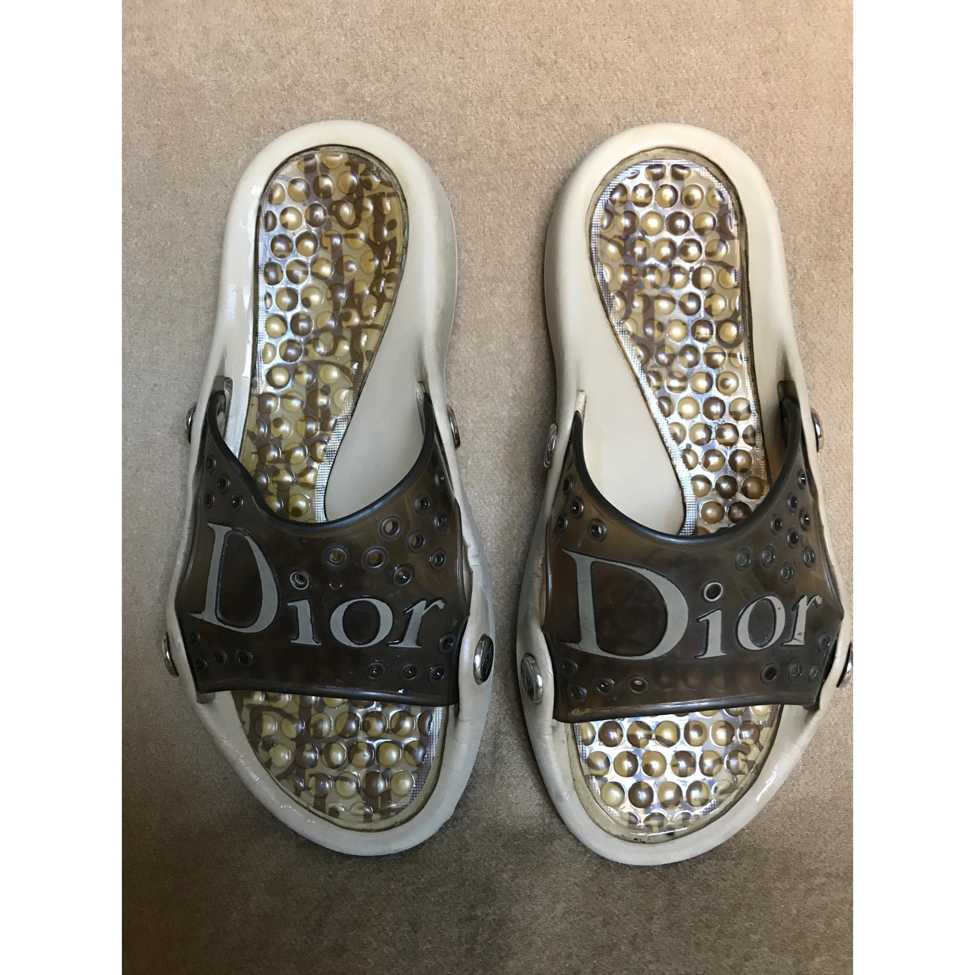 Sandales plates  DIOR Marron