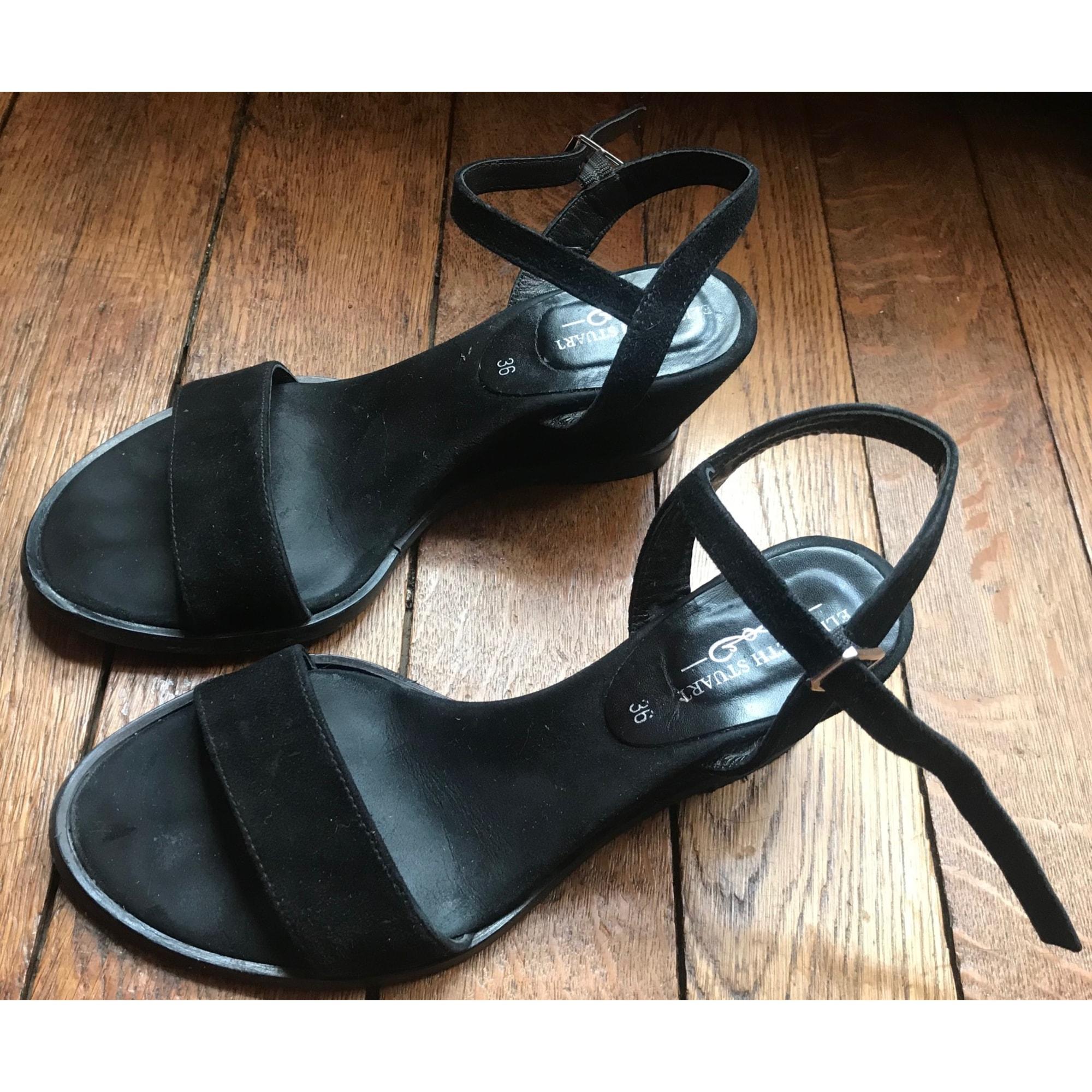 Sandales compensées ELIZABETH STUART Noir