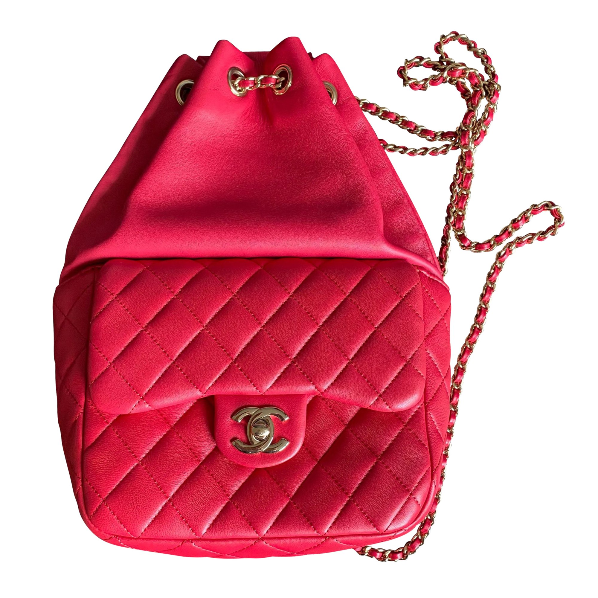 Backpack CHANEL Timeless - Classique Red, burgundy