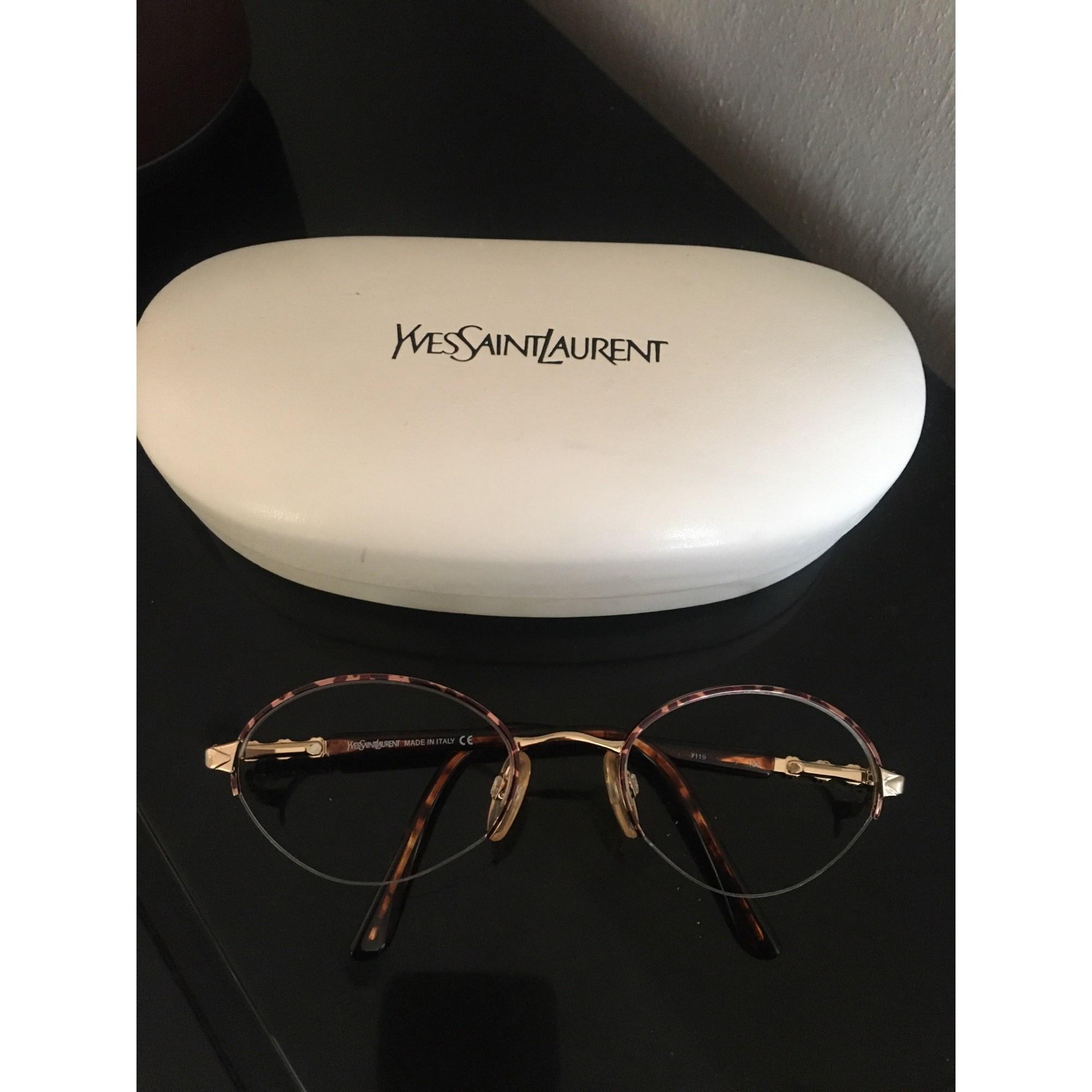 Monture de lunettes YVES SAINT LAURENT Doré, bronze, cuivre