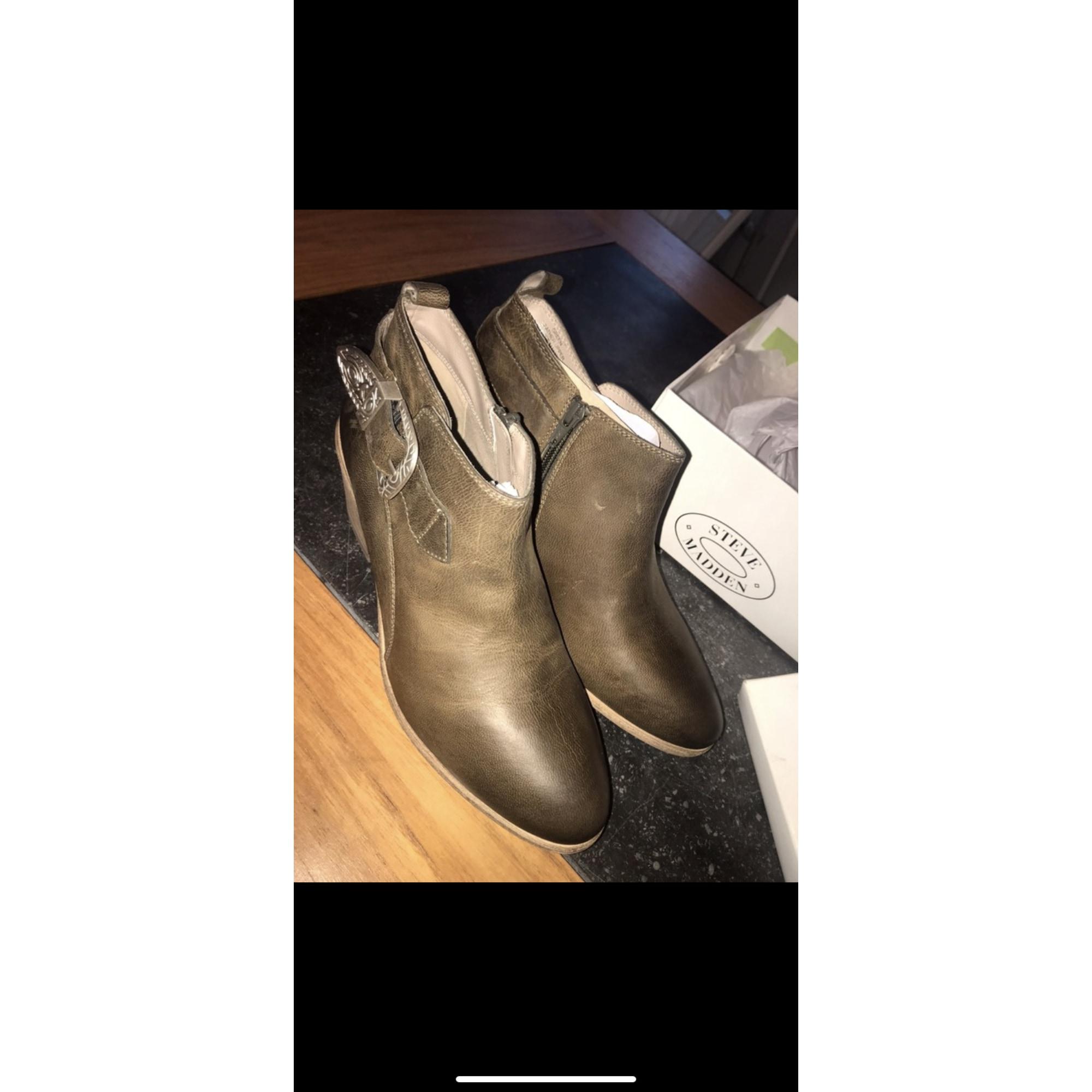 Bottines & low boots à talons STEVE MADDEN Kaki