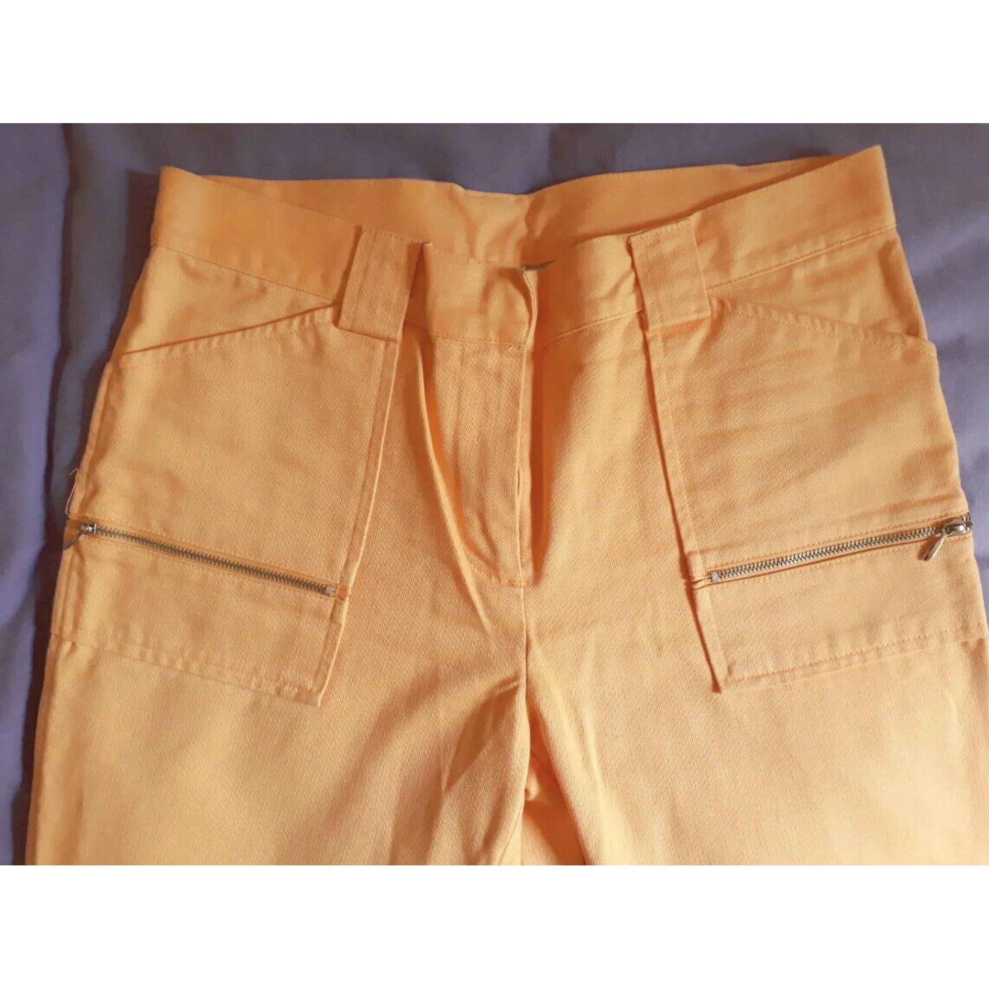 Pantalon droit ZARA Orange