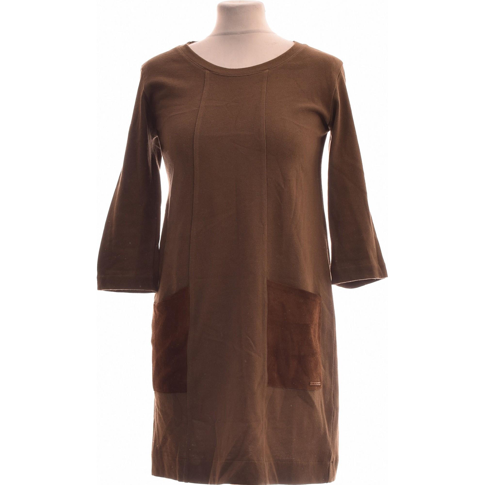 Robe courte MASSIMO DUTTI Vert