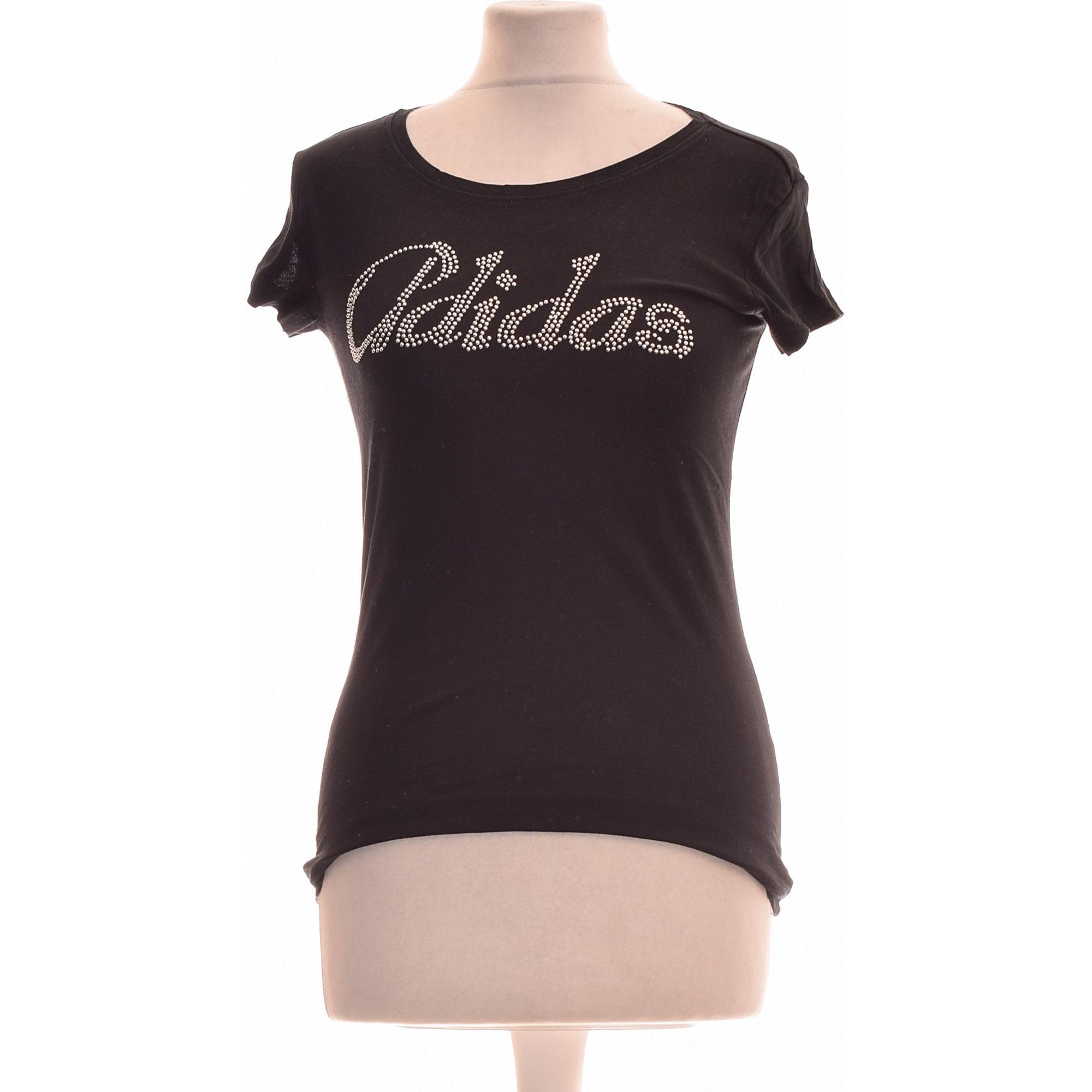 Tops, T-Shirt ADIDAS Schwarz