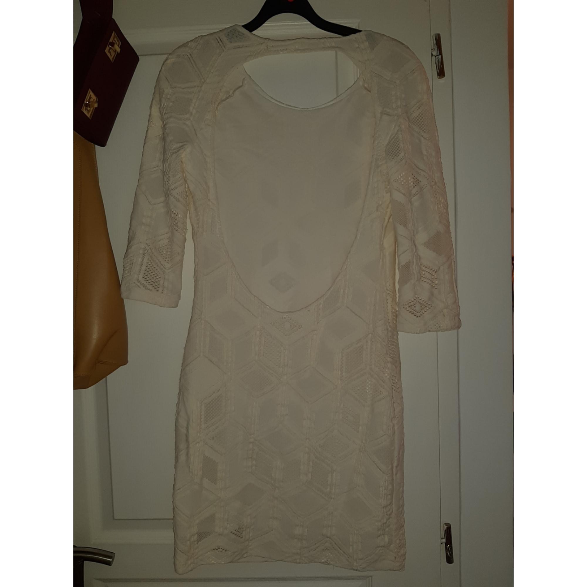 Robe mi-longue BA&SH Blanc, blanc cassé, écru