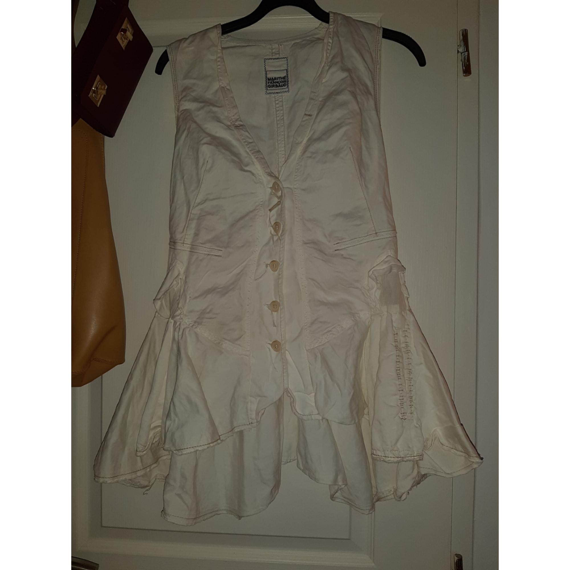 Robe courte MARITHÉ ET FRANÇOIS GIRBAUD Blanc, blanc cassé, écru