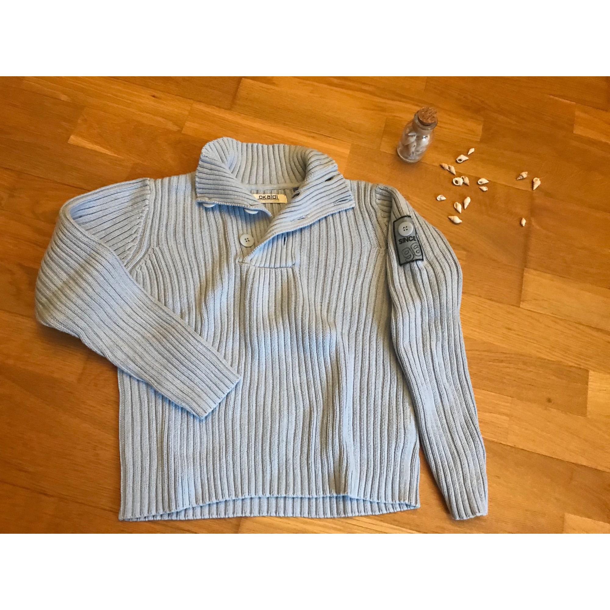Pull OKAÏDI Bleu, bleu marine, bleu turquoise