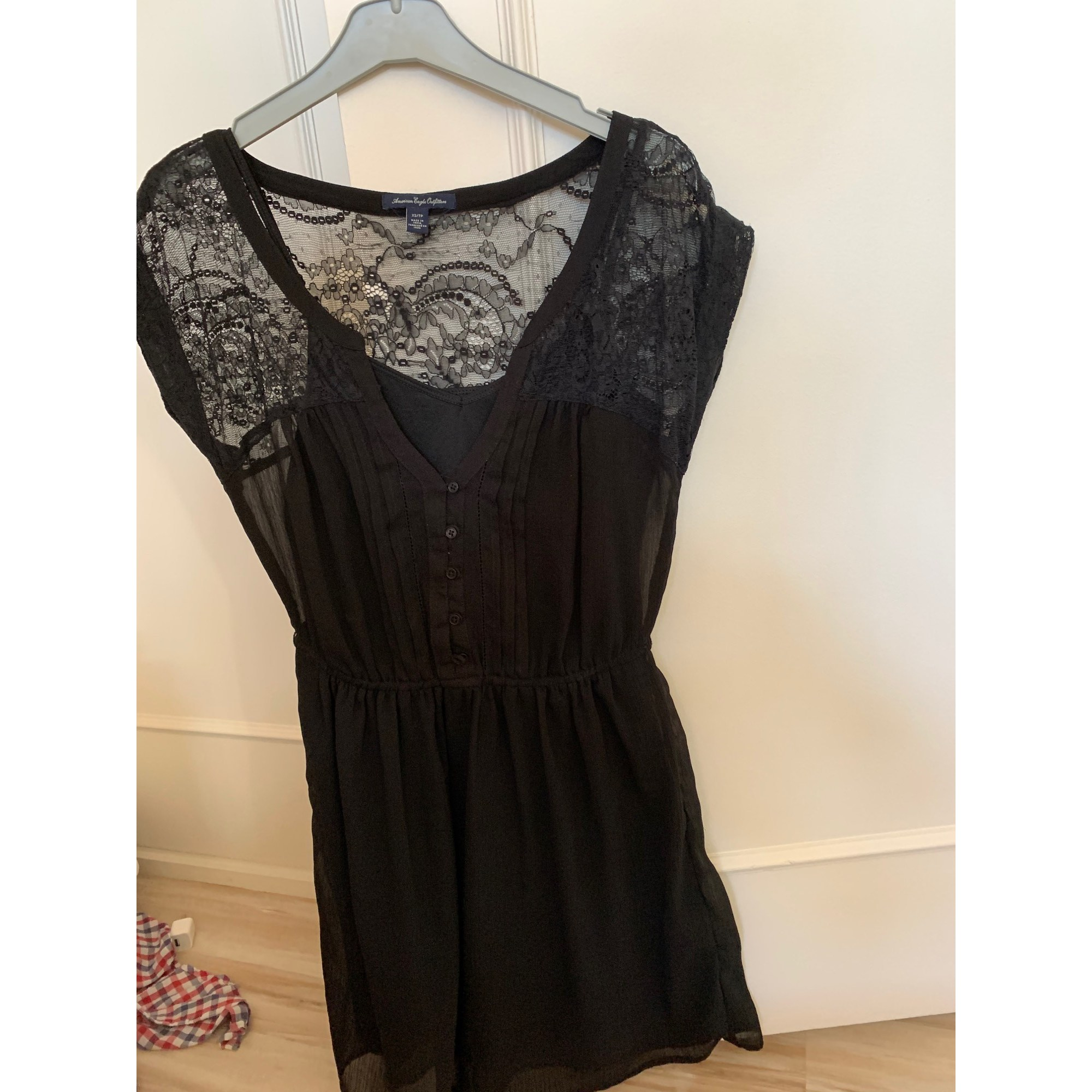 Robe courte AMERICAN EAGLE OUTFITTERS Noir