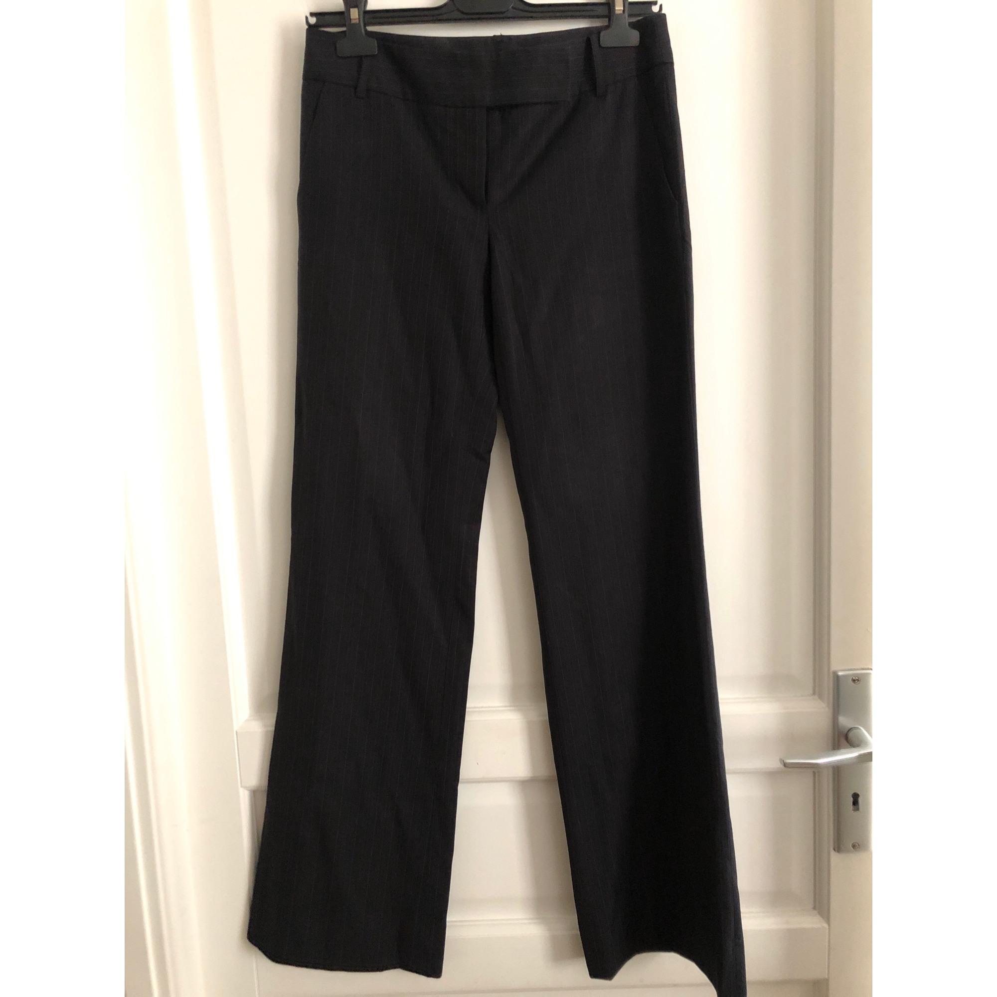 Pantalon large ZARA Noir