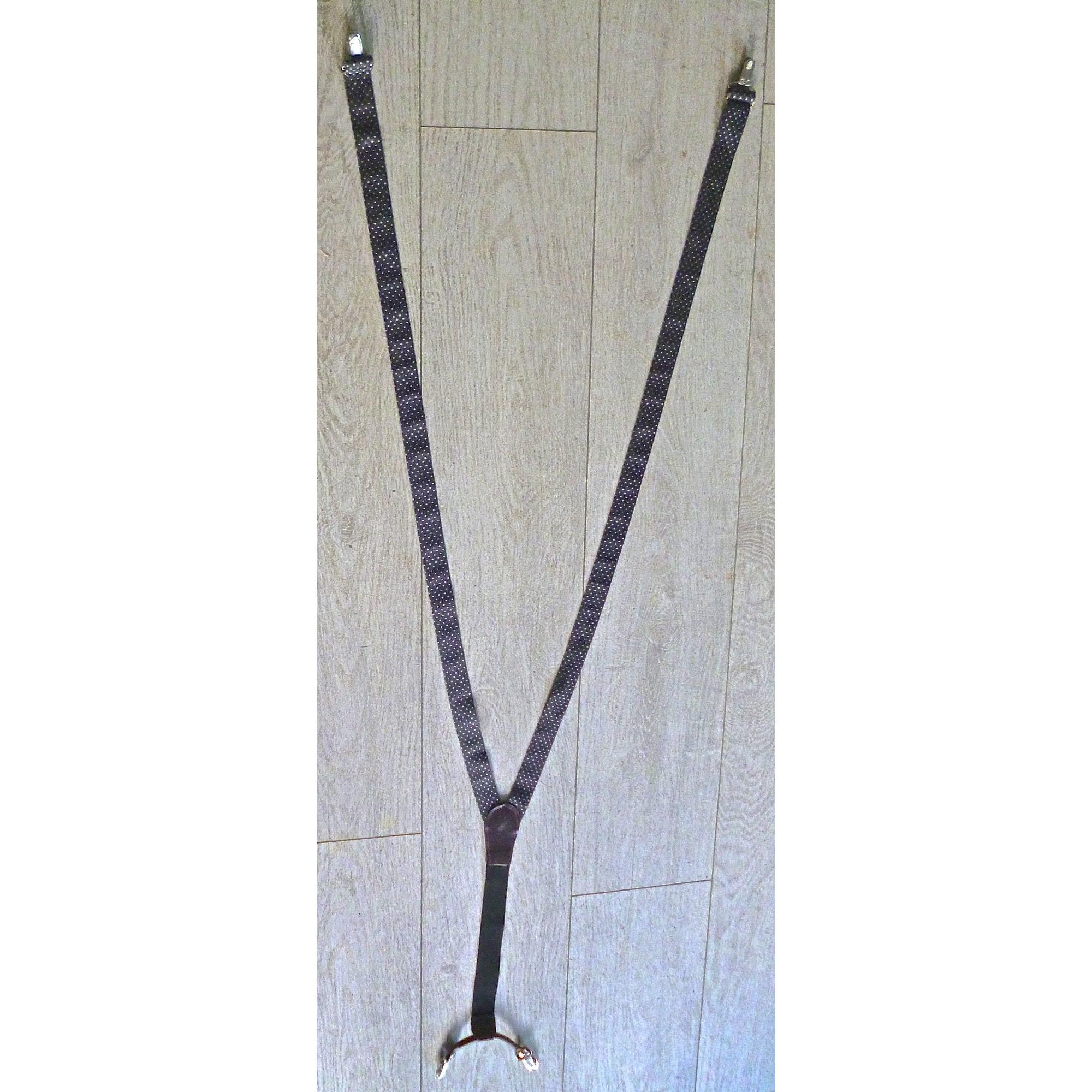 Suspenders MARQUE INCONNUE Black