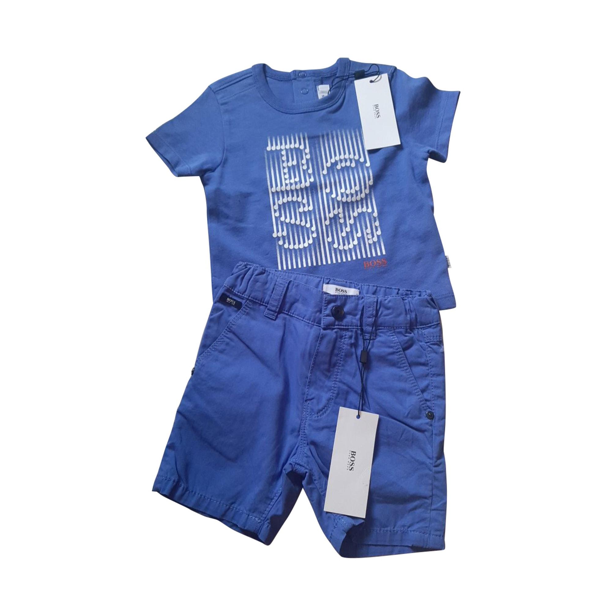 Ensemble & Combinaison short HUGO BOSS Bleu, bleu marine, bleu turquoise