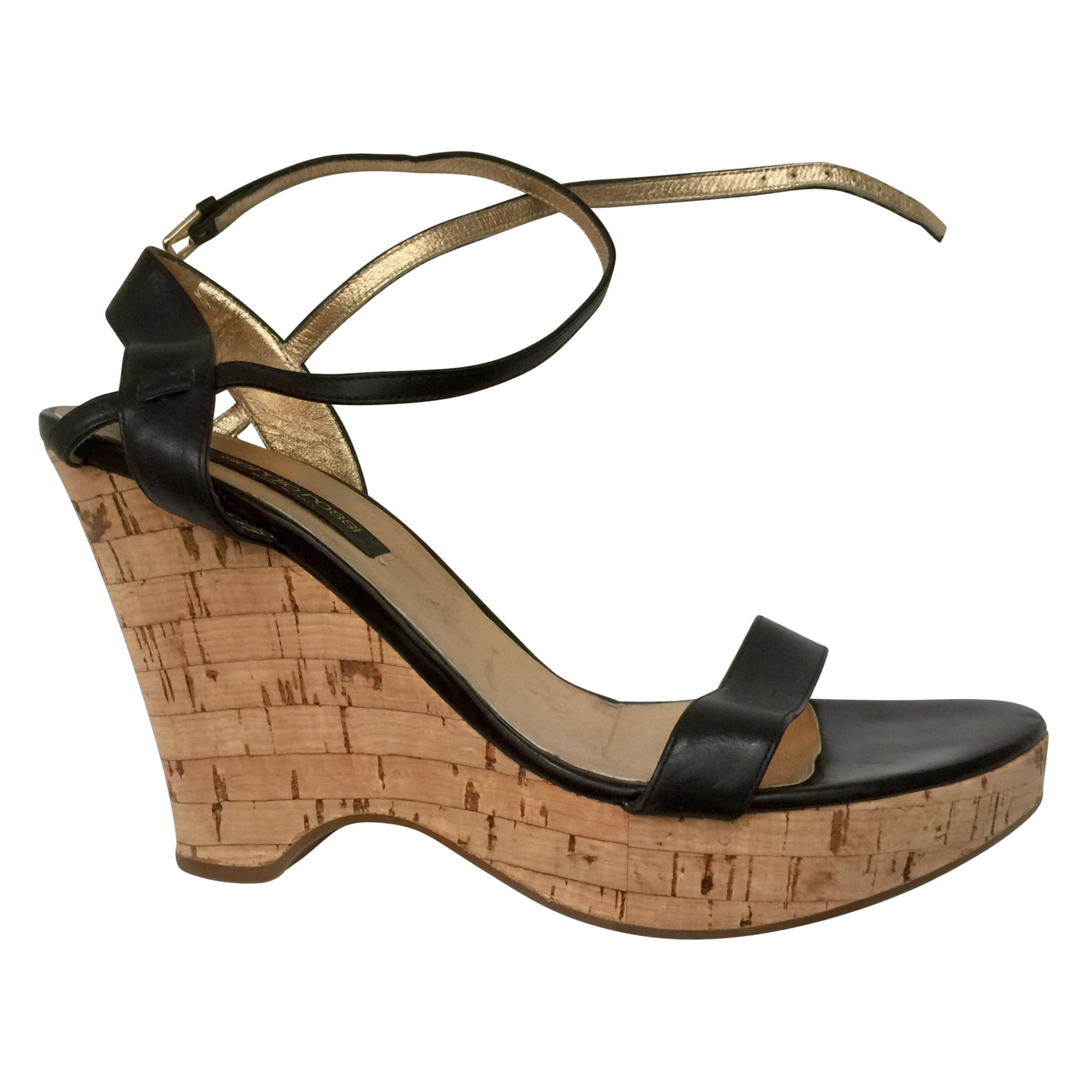 Sandales compensées SERGIO ROSSI Noir