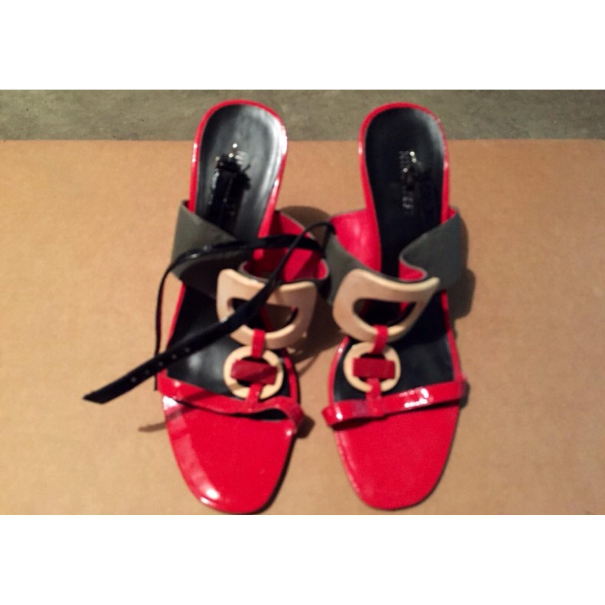 Sandales à talons NINE WEST Rouge, gris, crème
