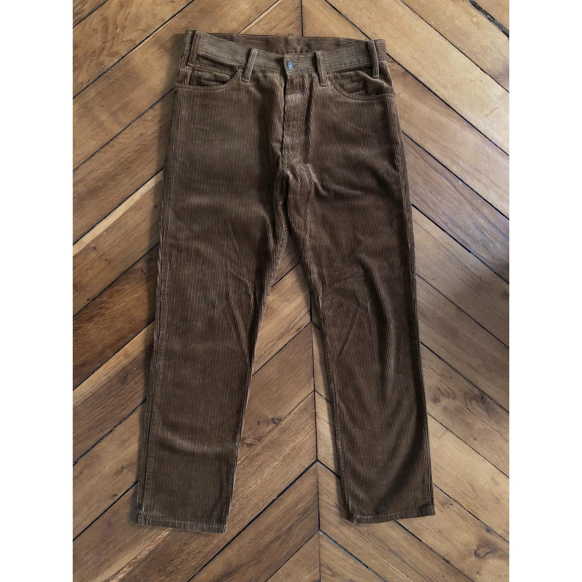 Pantalon droit LEVI'S Marron