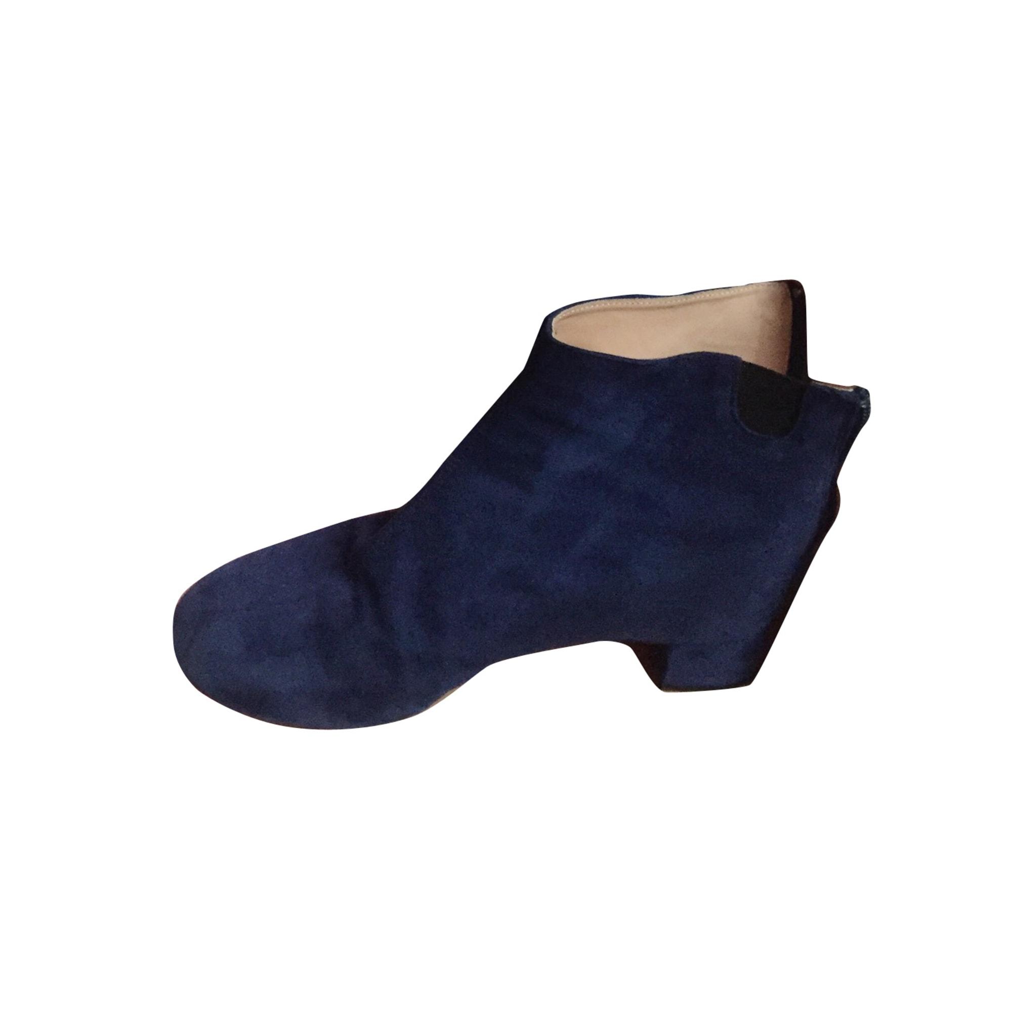 Bottines & low boots plates REPETTO Bleu, bleu marine, bleu turquoise