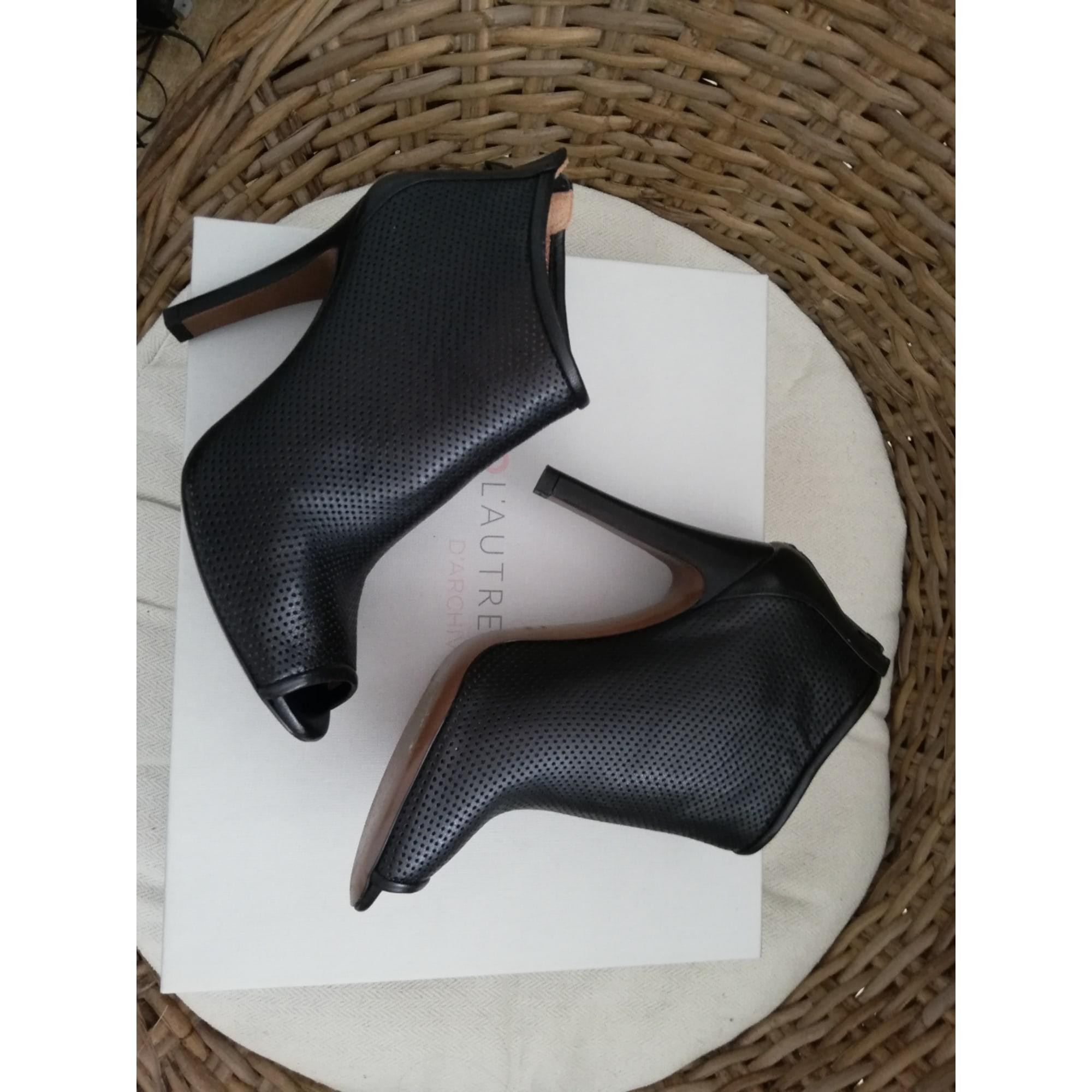 Bottines & low boots à talons L'AUTRE CHOSE Noir