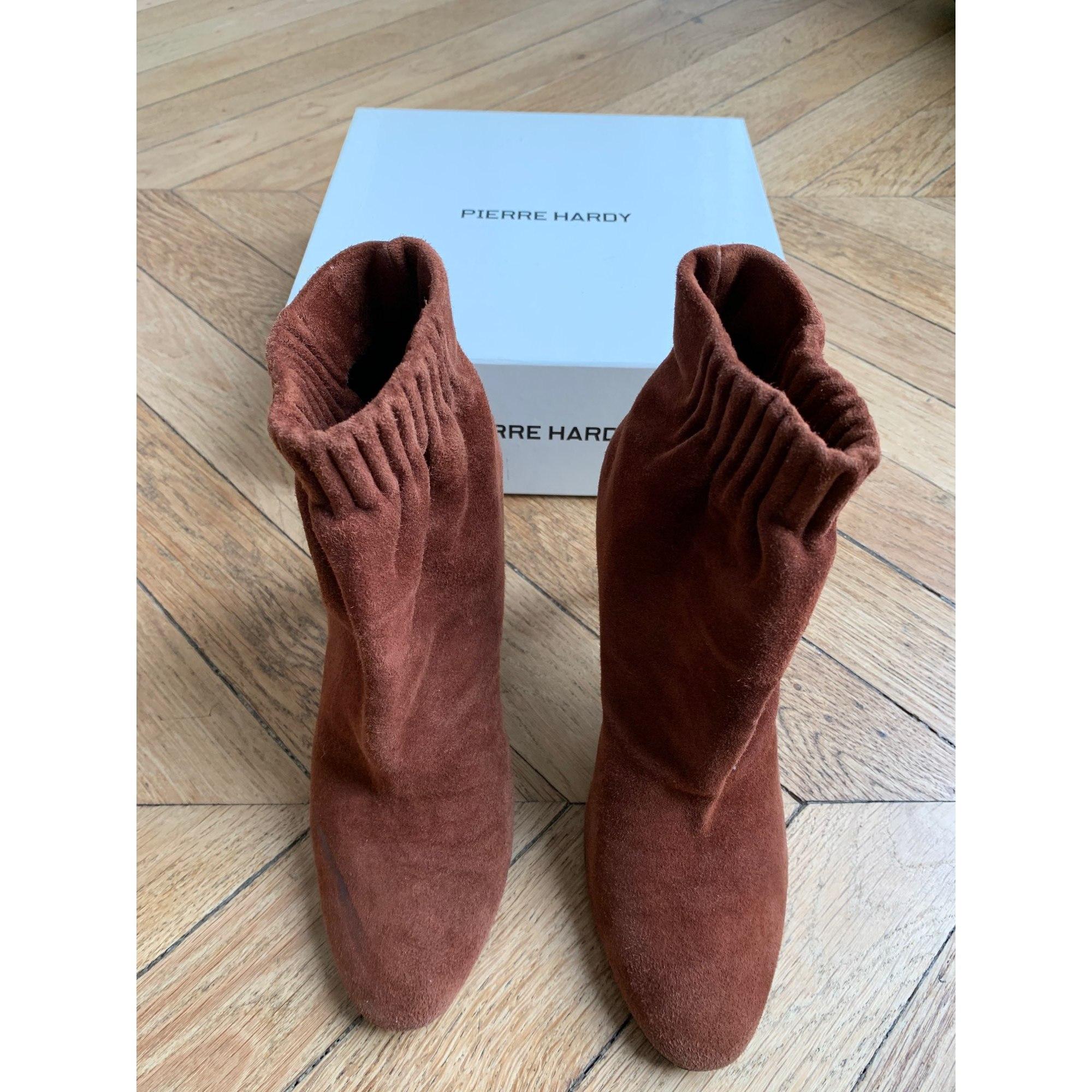 Bottines & low boots à talons PIERRE HARDY Beige, camel