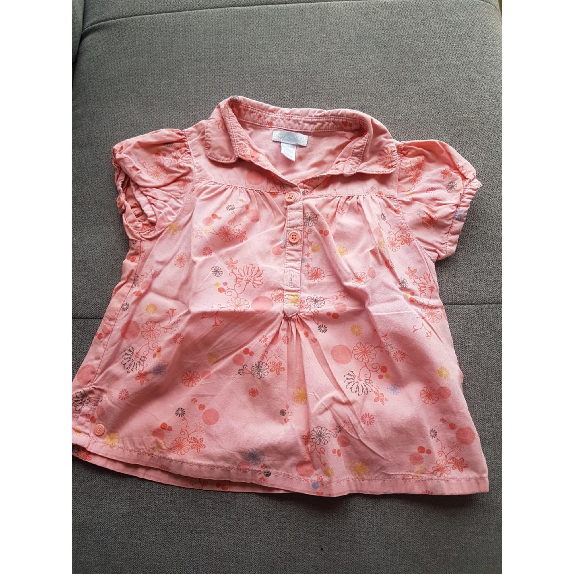 Blouse, Short-sleeved Shirt OBAIBI Orange