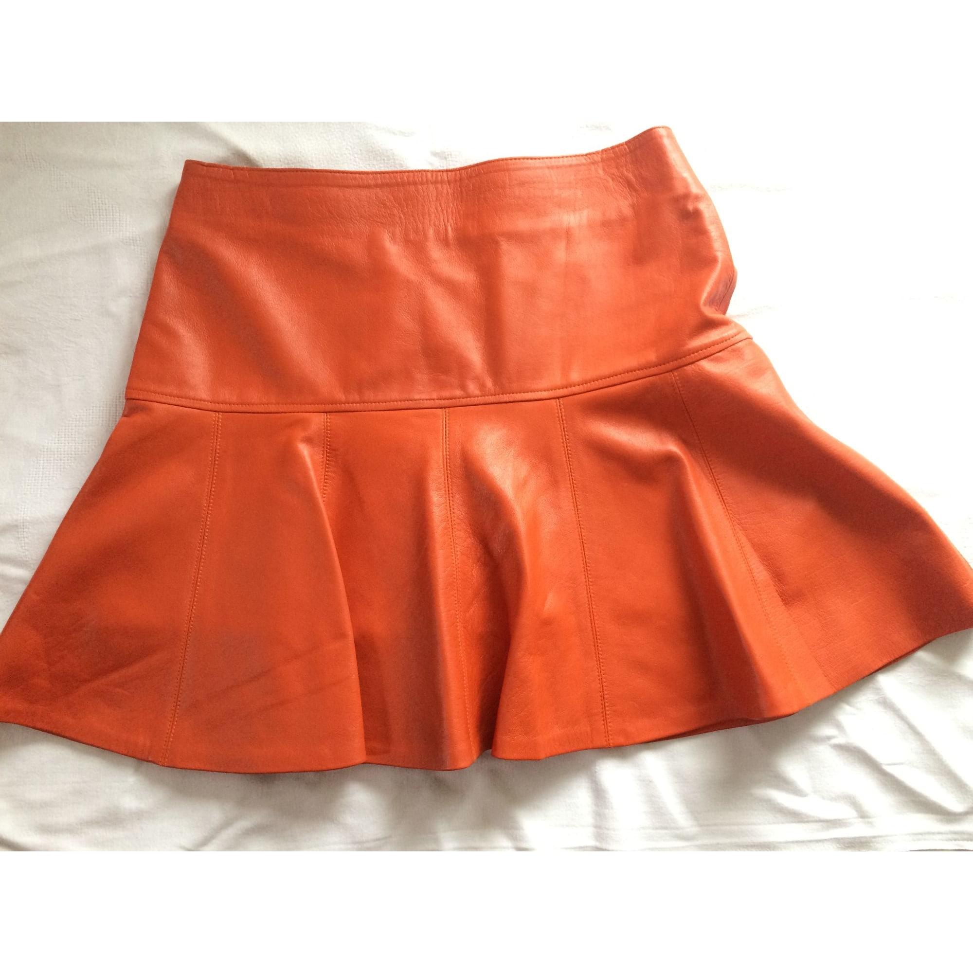 Jupe courte MARQUE INCONNUE Orange