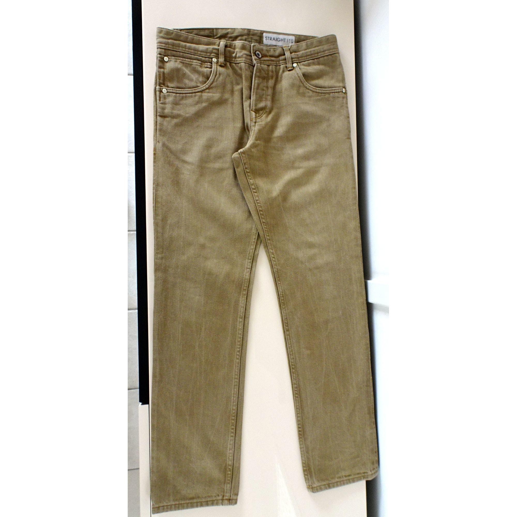Jeans droit JULES Kaki